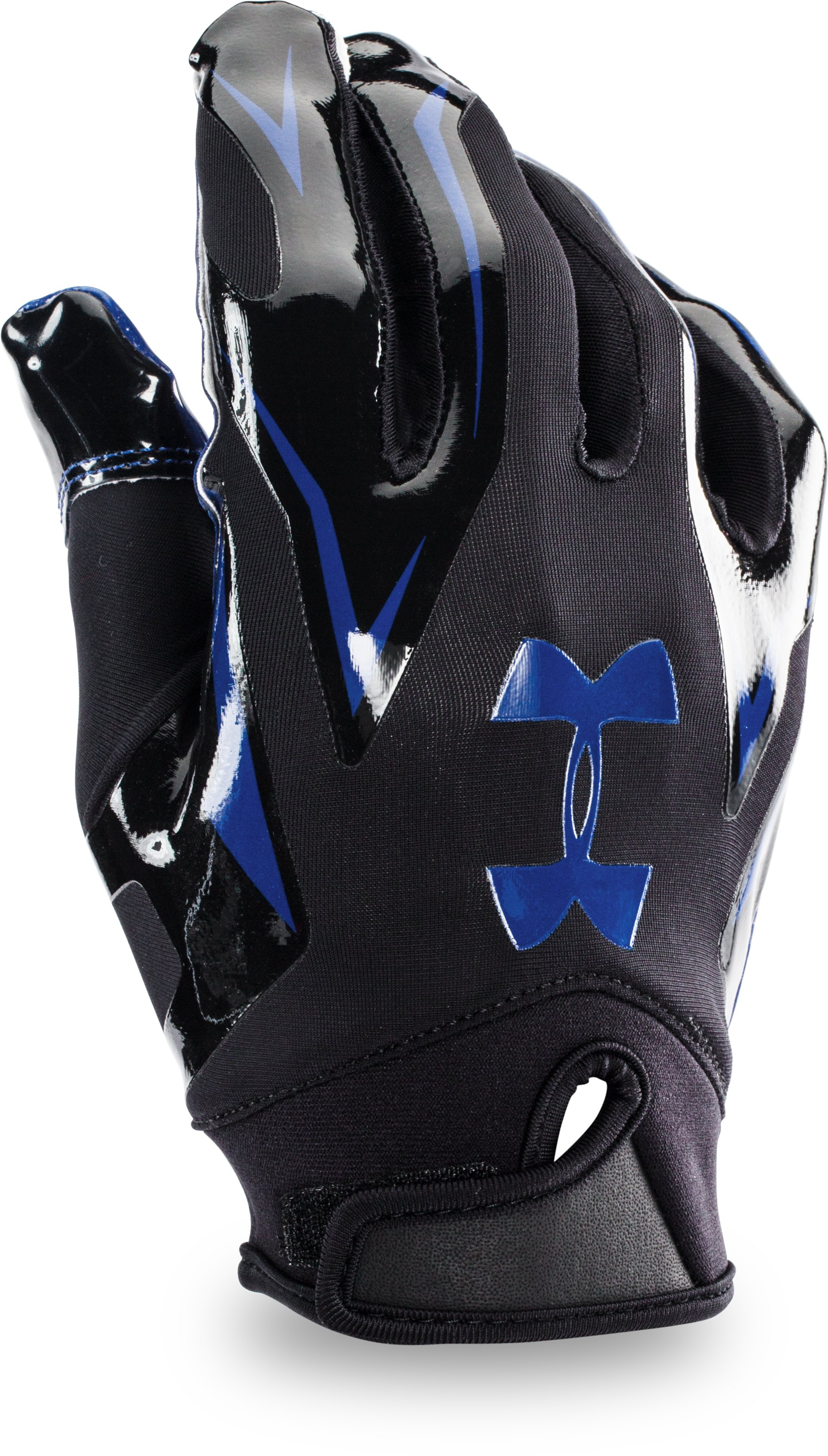Men's UA F4 Football Gloves, Royal