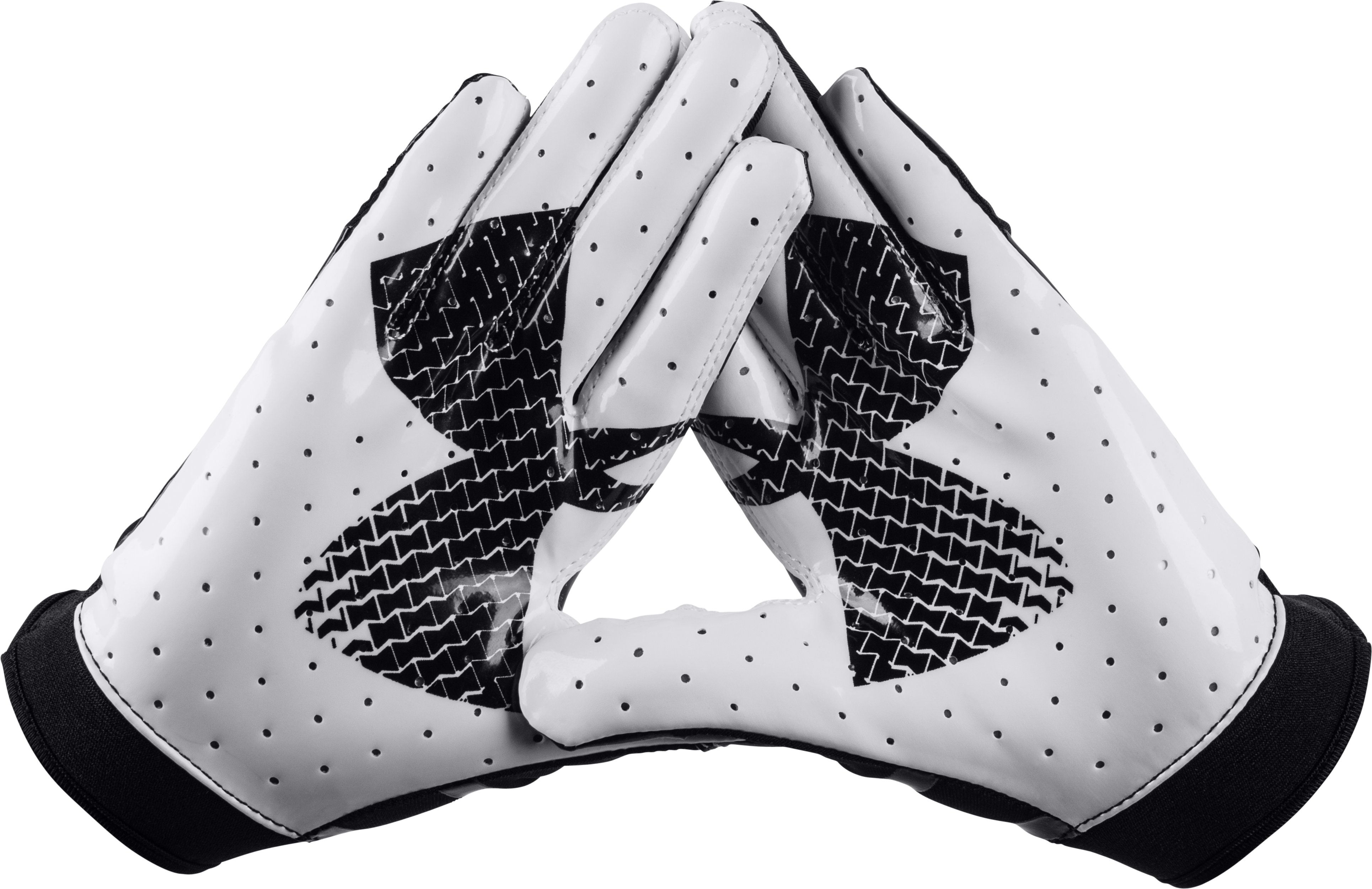 Boys' UA F4 Football Gloves, Black , zoomed image