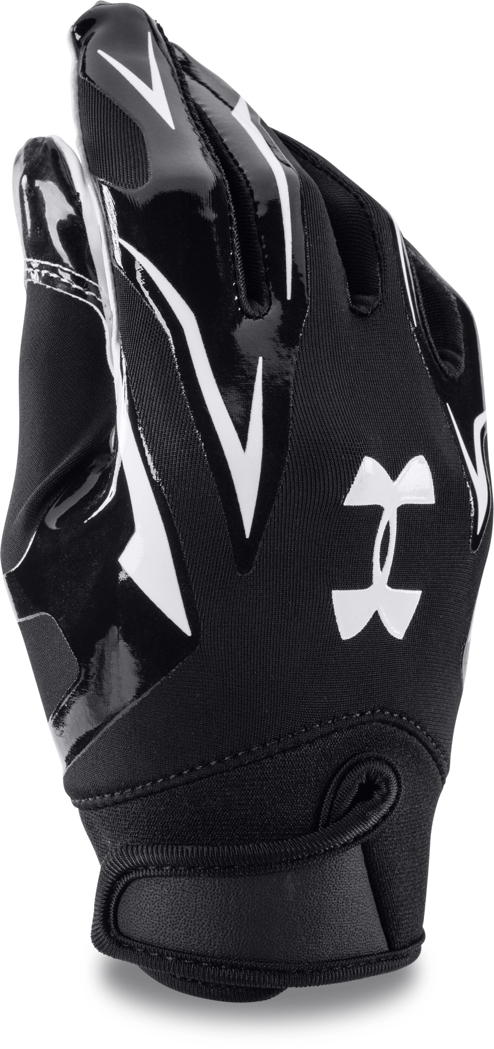 Boys' UA F4 Football Gloves, Black