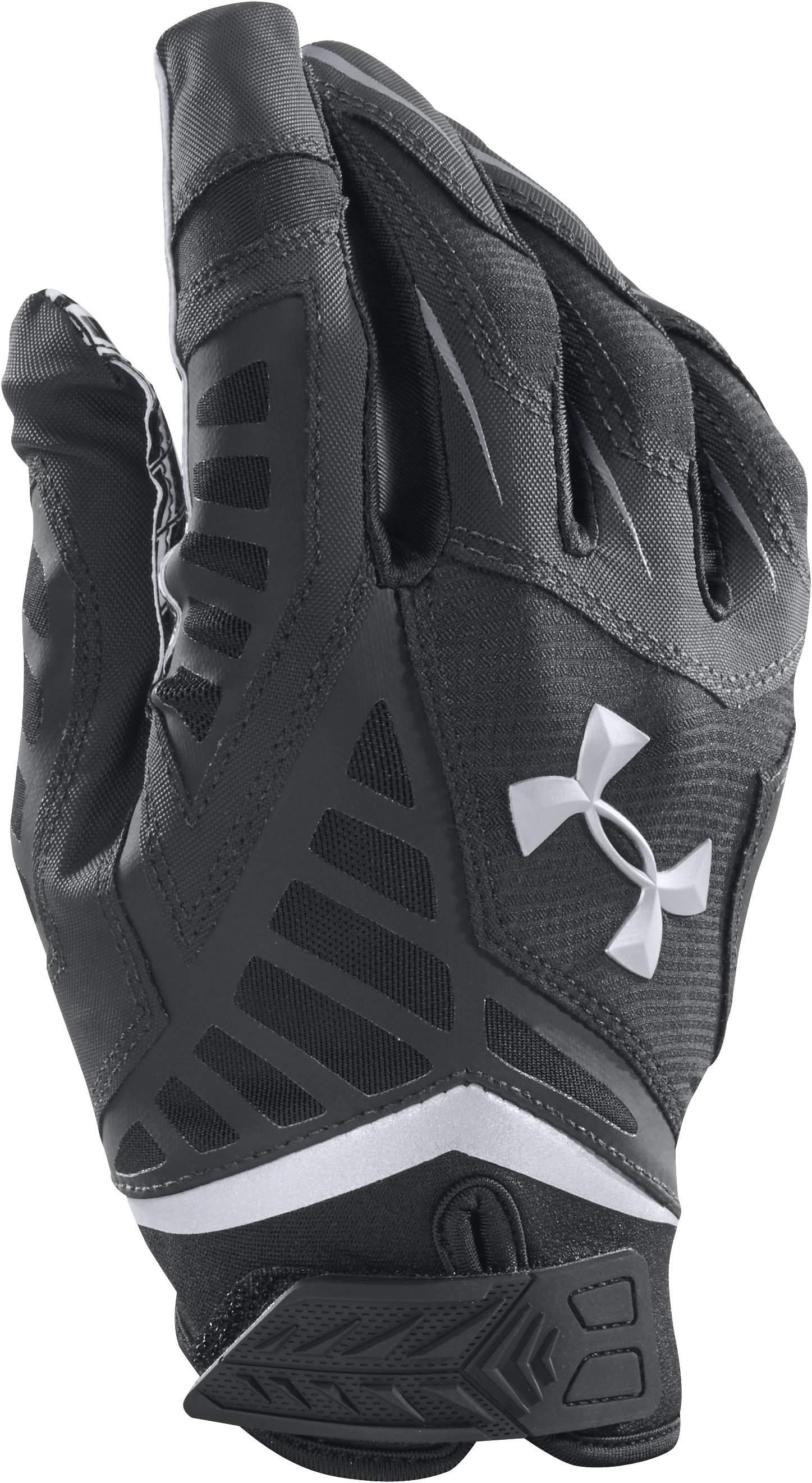 Men's UA Nitro Warp Football Gloves, Black , undefined