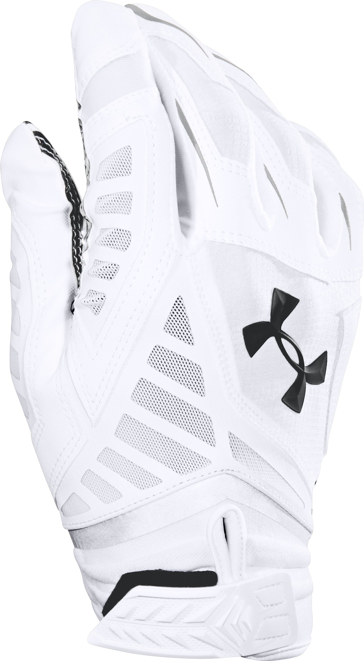 Men's UA Nitro Warp Football Gloves, White, undefined