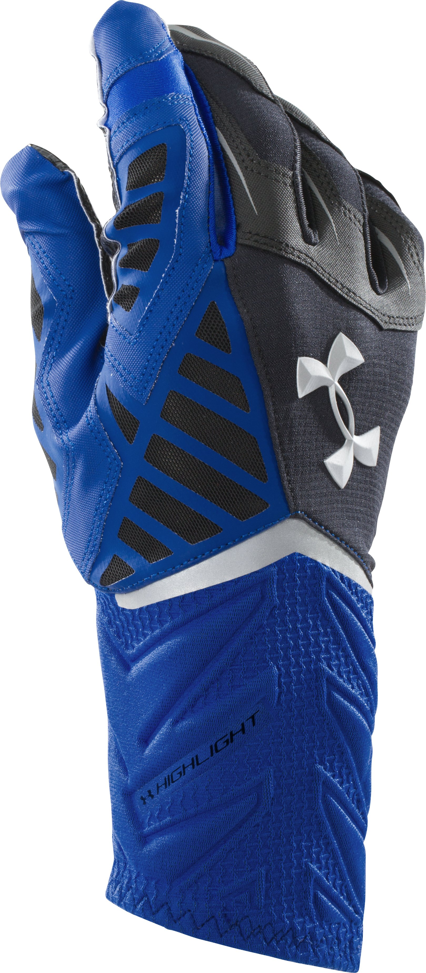 Men's UA Nitro Warp Highlight Football Gloves, Royal