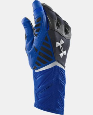 New to Outlet Men's UA Nitro Warp Highlight Football Gloves  1 Color $30.74