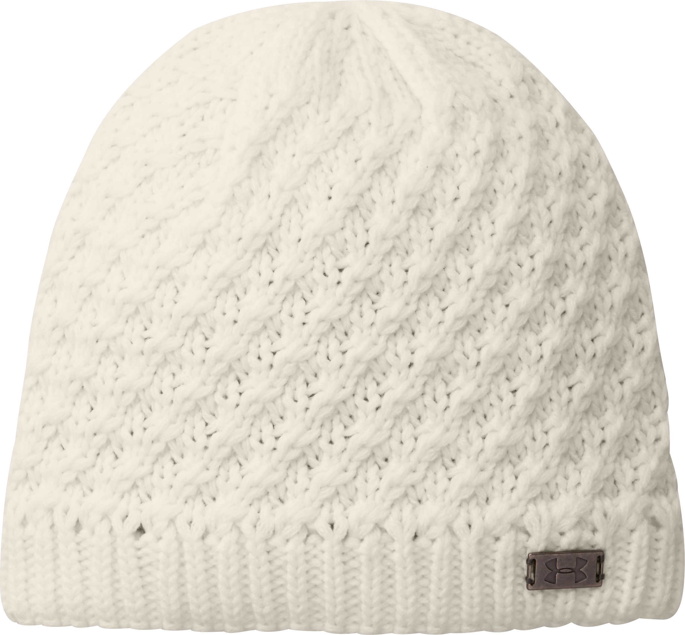 Women's UA Coffee Run Beanie, Ivory, zoomed image
