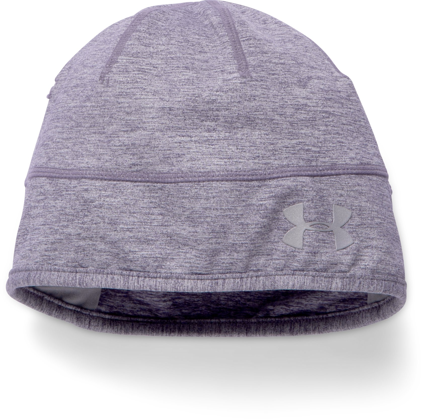 Women's UA ColdGear® Infrared Run Reflective Beanie, TWILIGHT PURPLE
