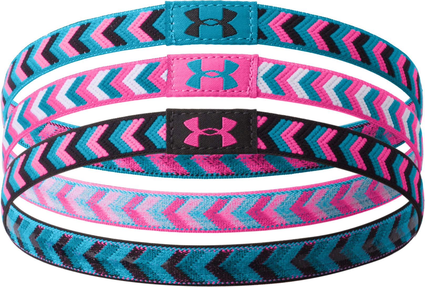 Girls' UA Patternfest Headband, Black , zoomed image