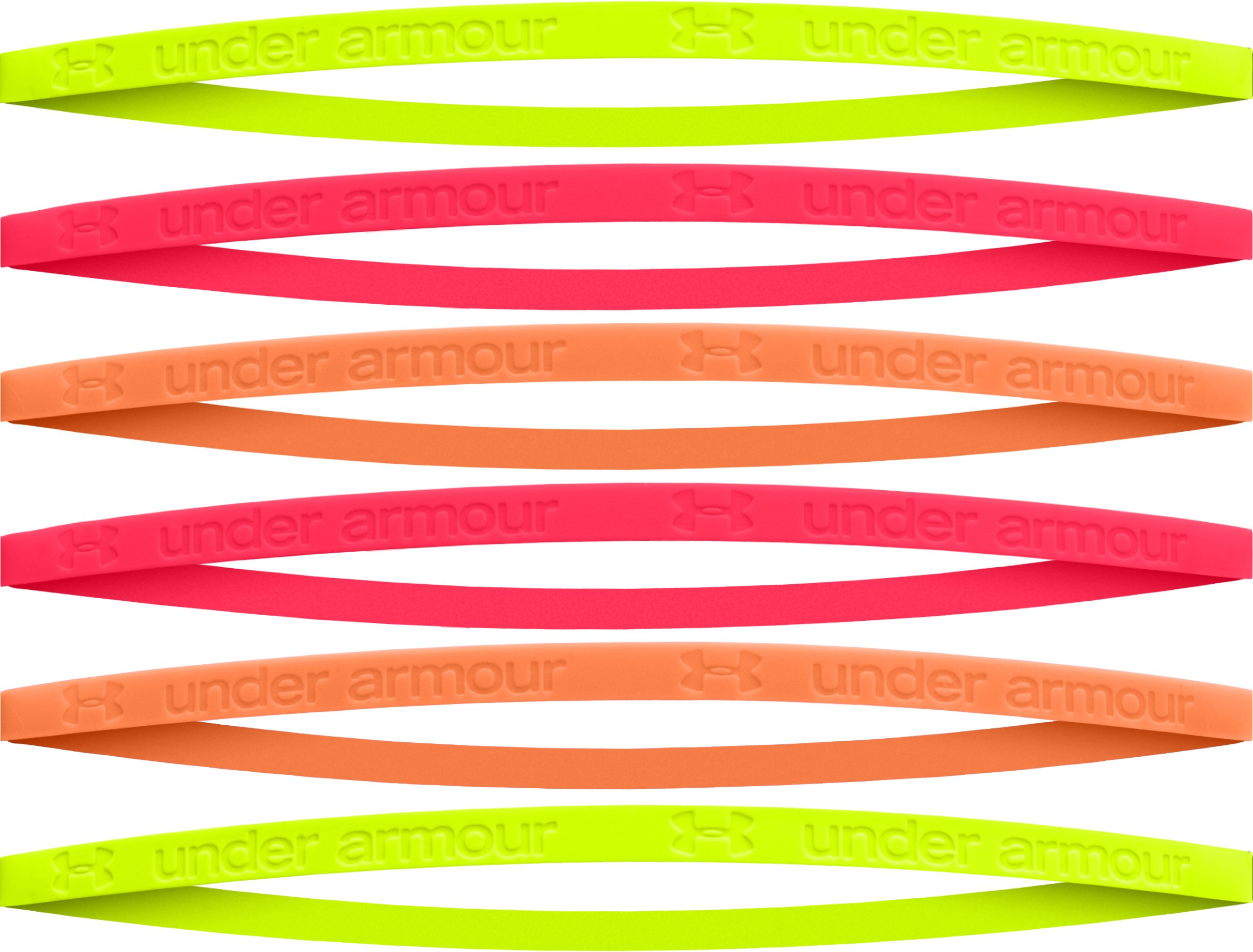 Girls' Glow-In-The-Dark Mini Silicone Headbands - 6pk, High-Vis Yellow, zoomed image
