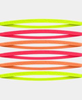 Girls' Glow-In-The-Dark Mini Silicone Headbands - 6pk
