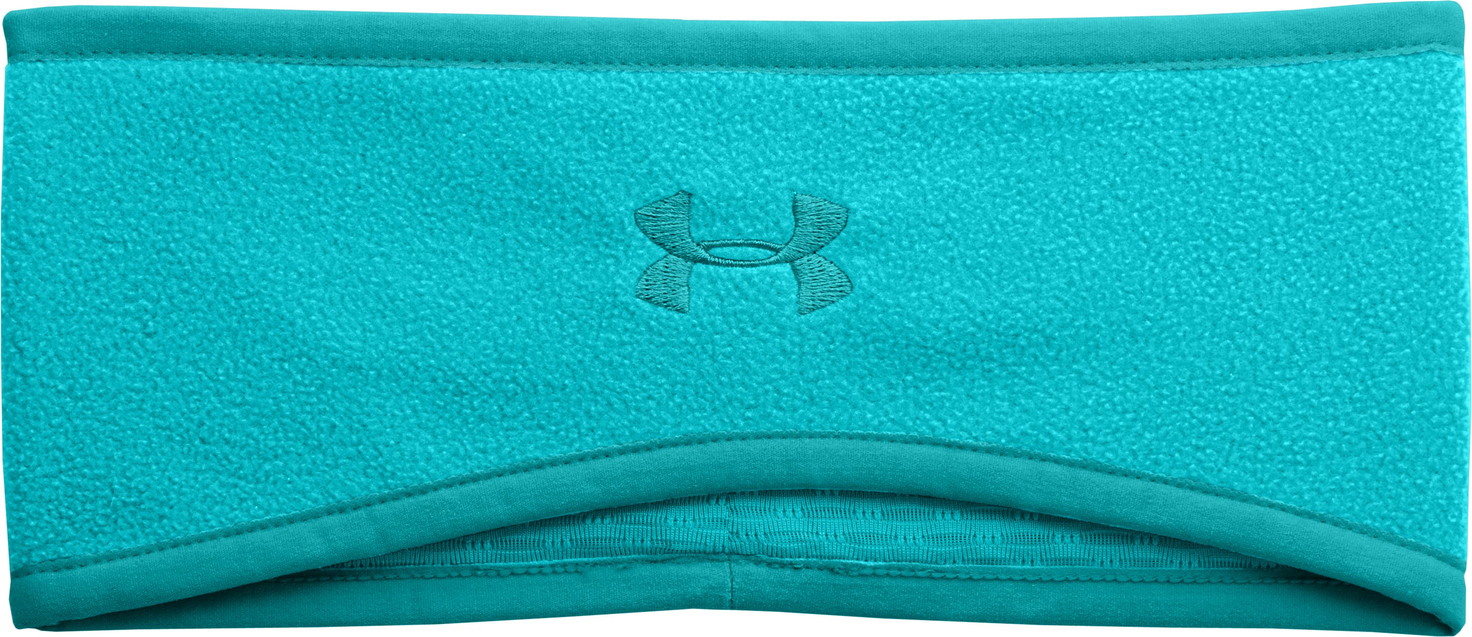 Women's UA Fleece Headband, AQUEDUCT, zoomed image