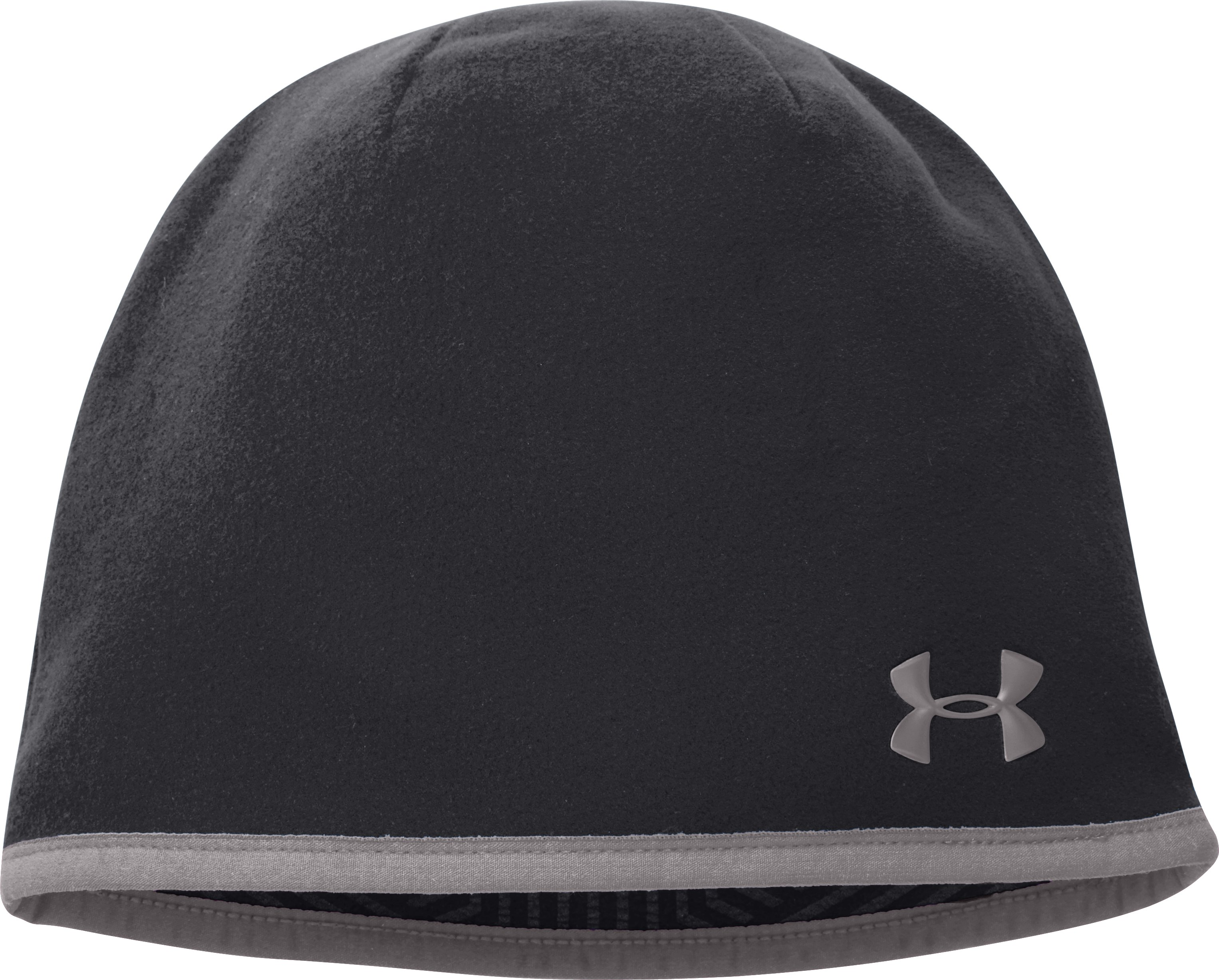 Women's UA Storm ColdGear® Infrared Fleece Beanie, Black , zoomed image