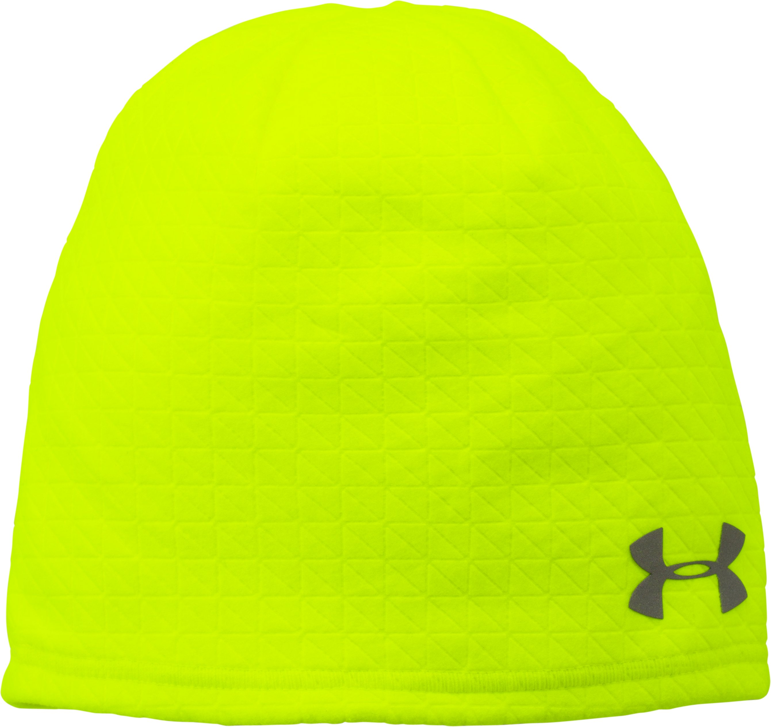 Men's UA ColdGear® Infrared Emboss Run Beanie, High-Vis Yellow