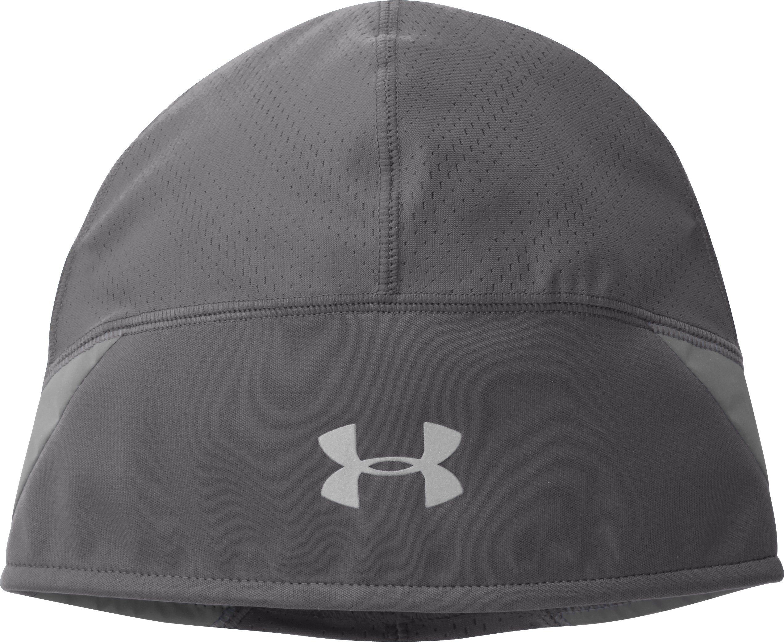 Men's UA ColdGear® ArmourVent™ Run Beanie, Graphite, zoomed image