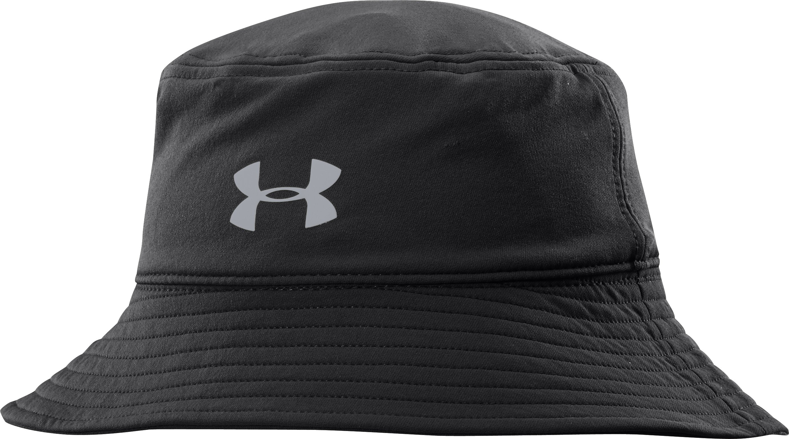 Men's UA Pack-it Golf Storm Bucket Hat, Black , zoomed image