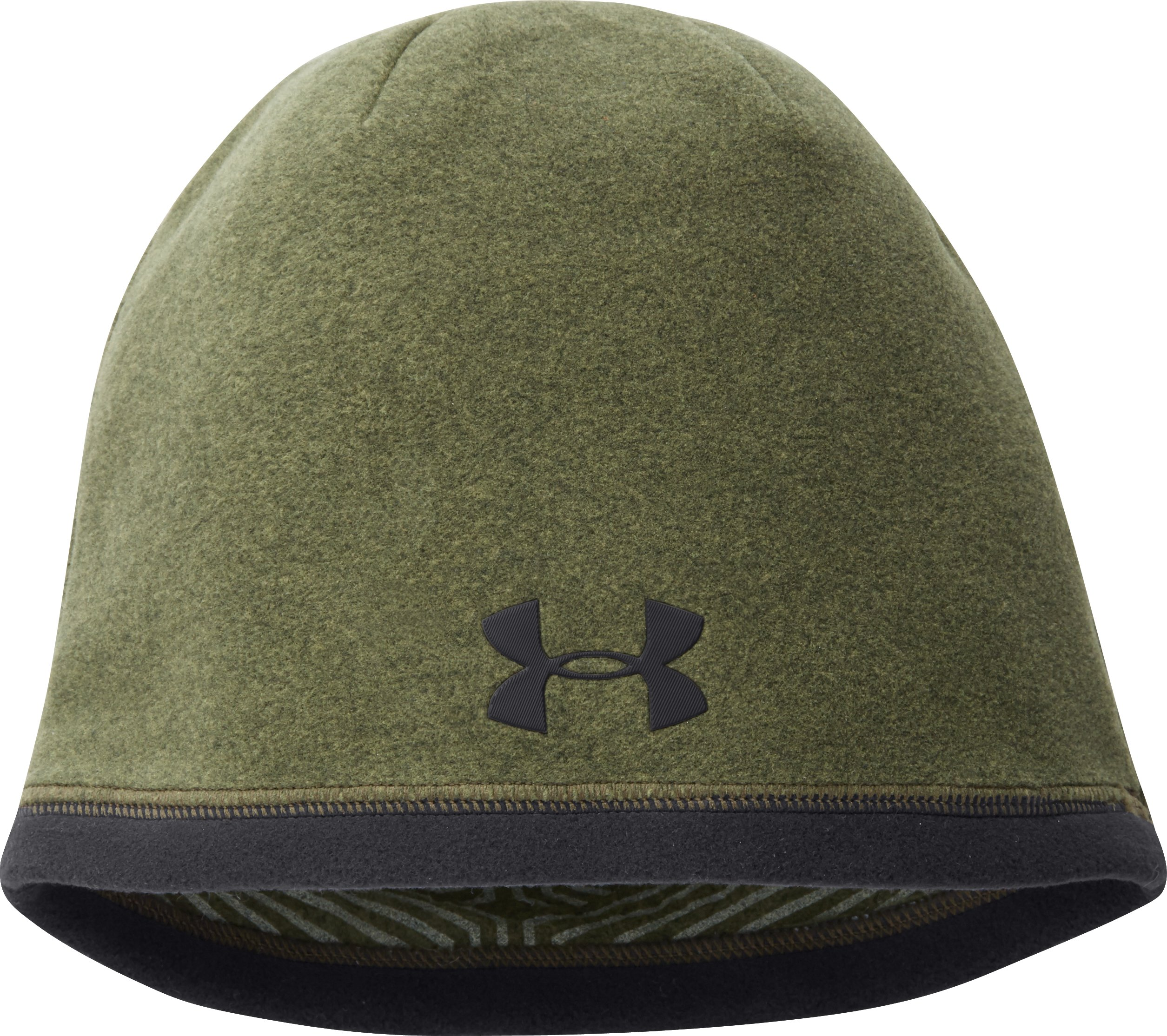 Men's UA ColdGear® Infrared Elements Storm Beanie, Rifle Green