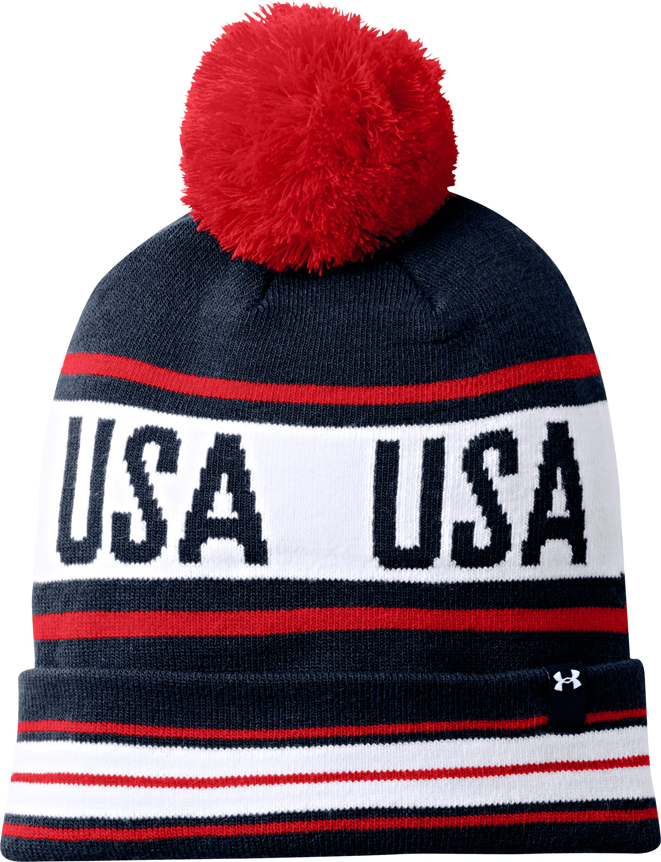 Men's Retro Pom Beanie, Academy, zoomed image