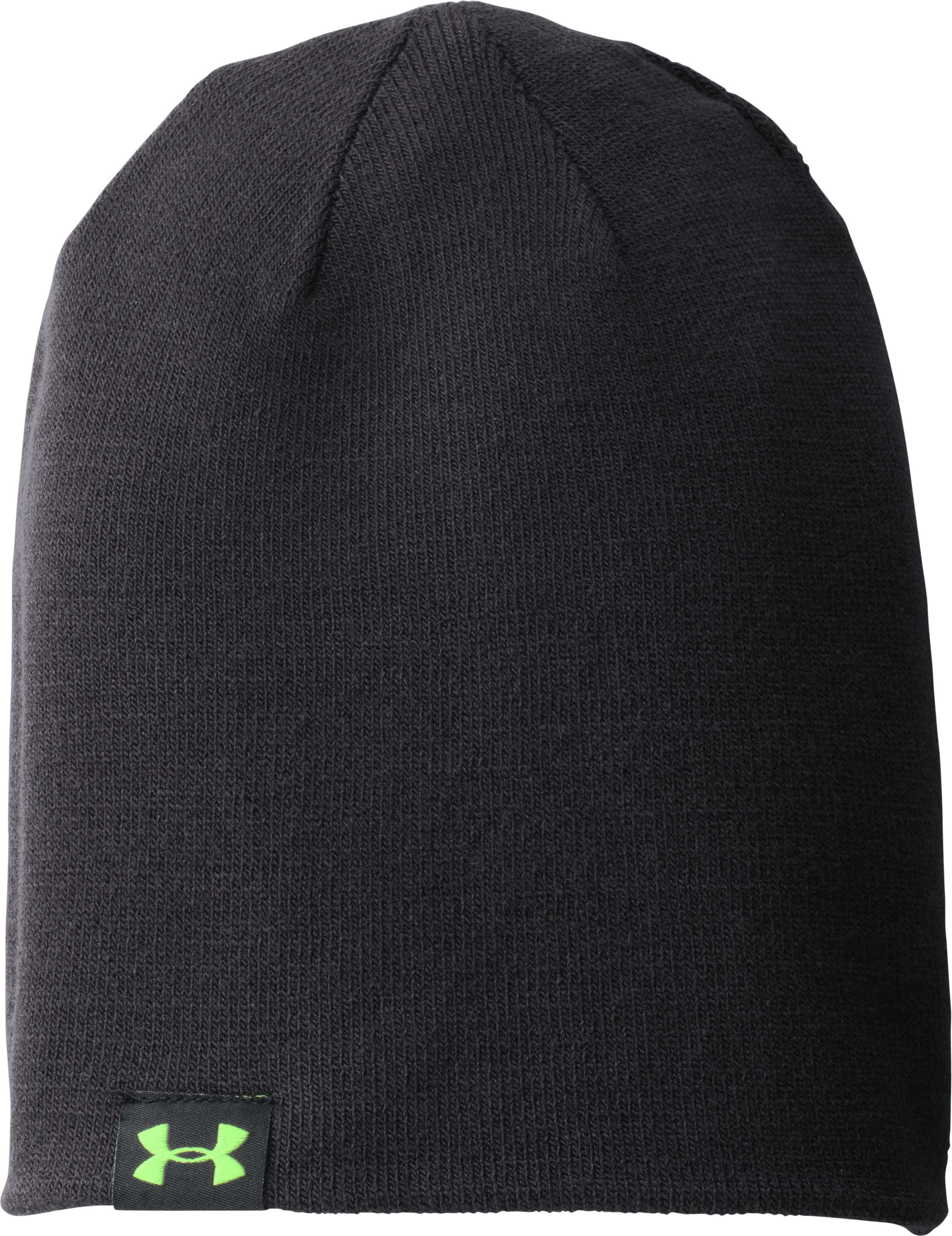 Men's UA 4-in-1 Stripe Beanie, Black