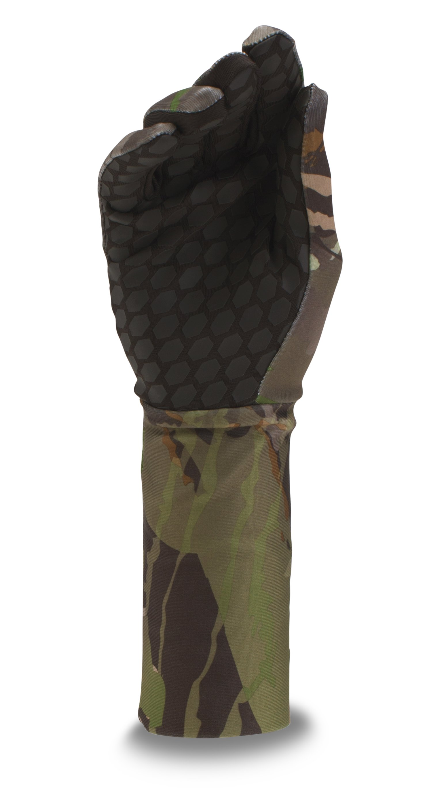 Boys' UA ColdGear® Camo Liner Gloves, RIDGE REAPER® FOREST, undefined