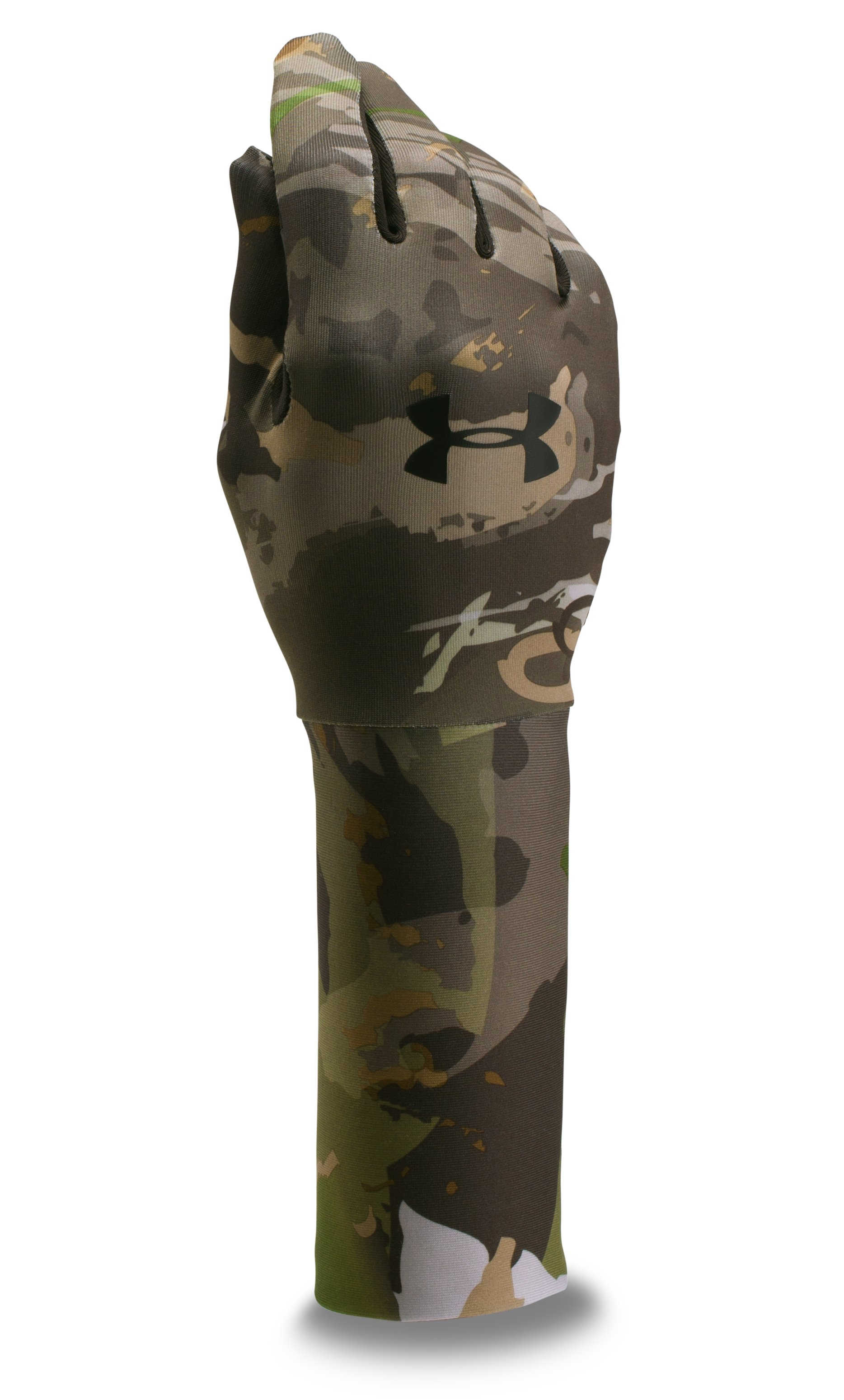 Boys' UA ColdGear® Camo Liner Gloves, RIDGE REAPER® FOREST,