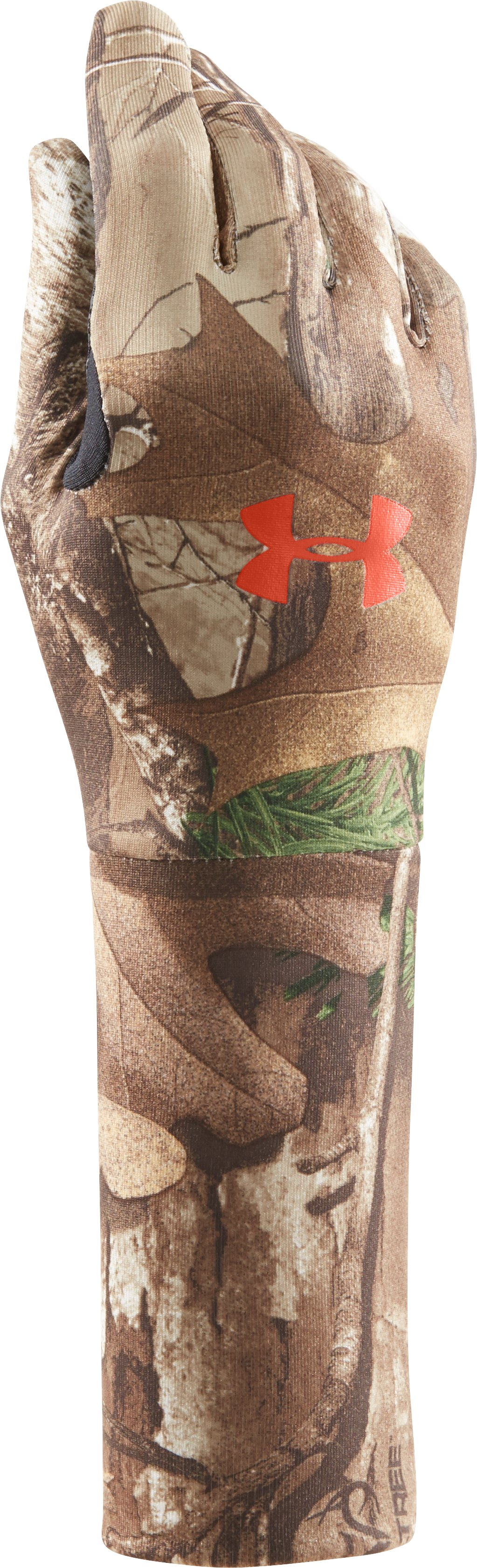 Boys' UA ColdGear® Camo Liner Gloves, REALTREE AP-XTRA
