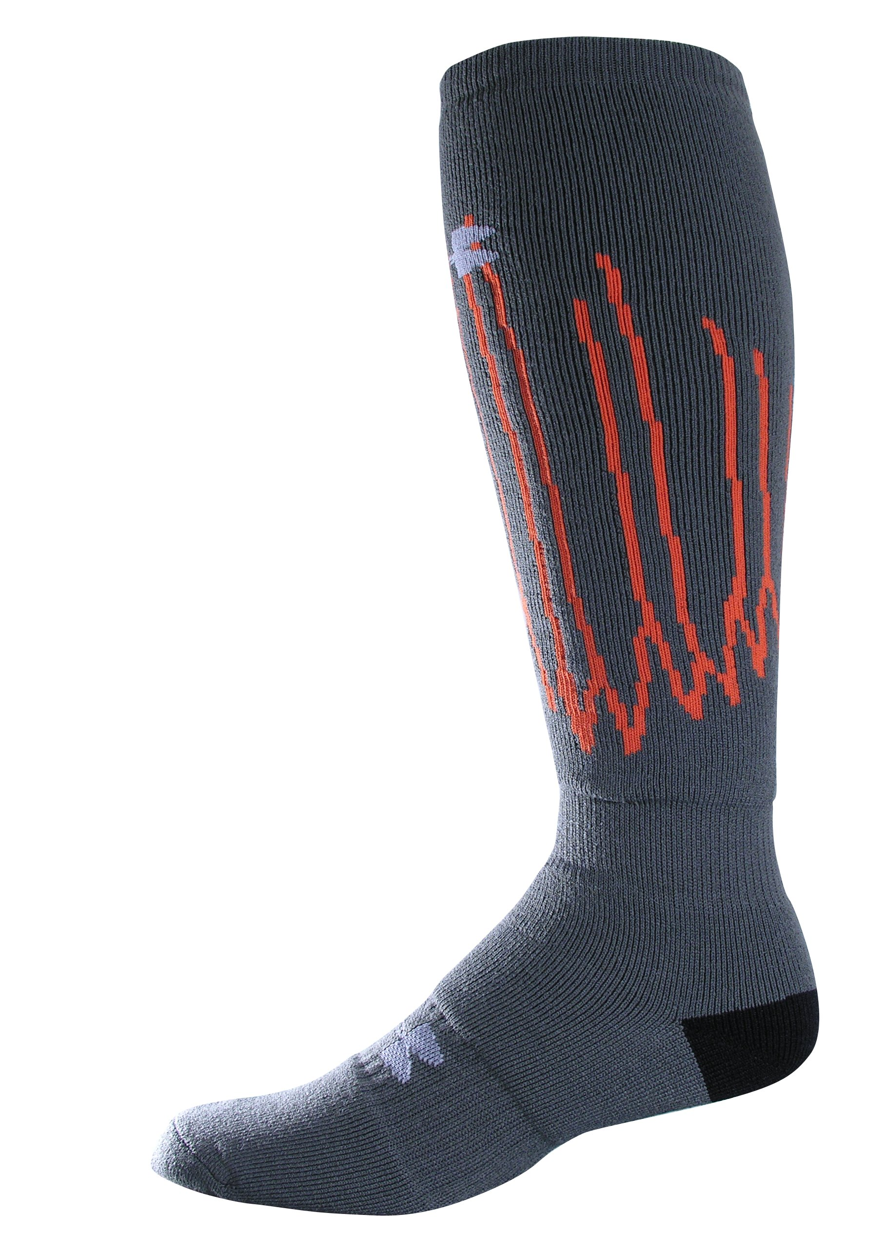 UA Pulse Snow/Ski Socks, Gray, zoomed image