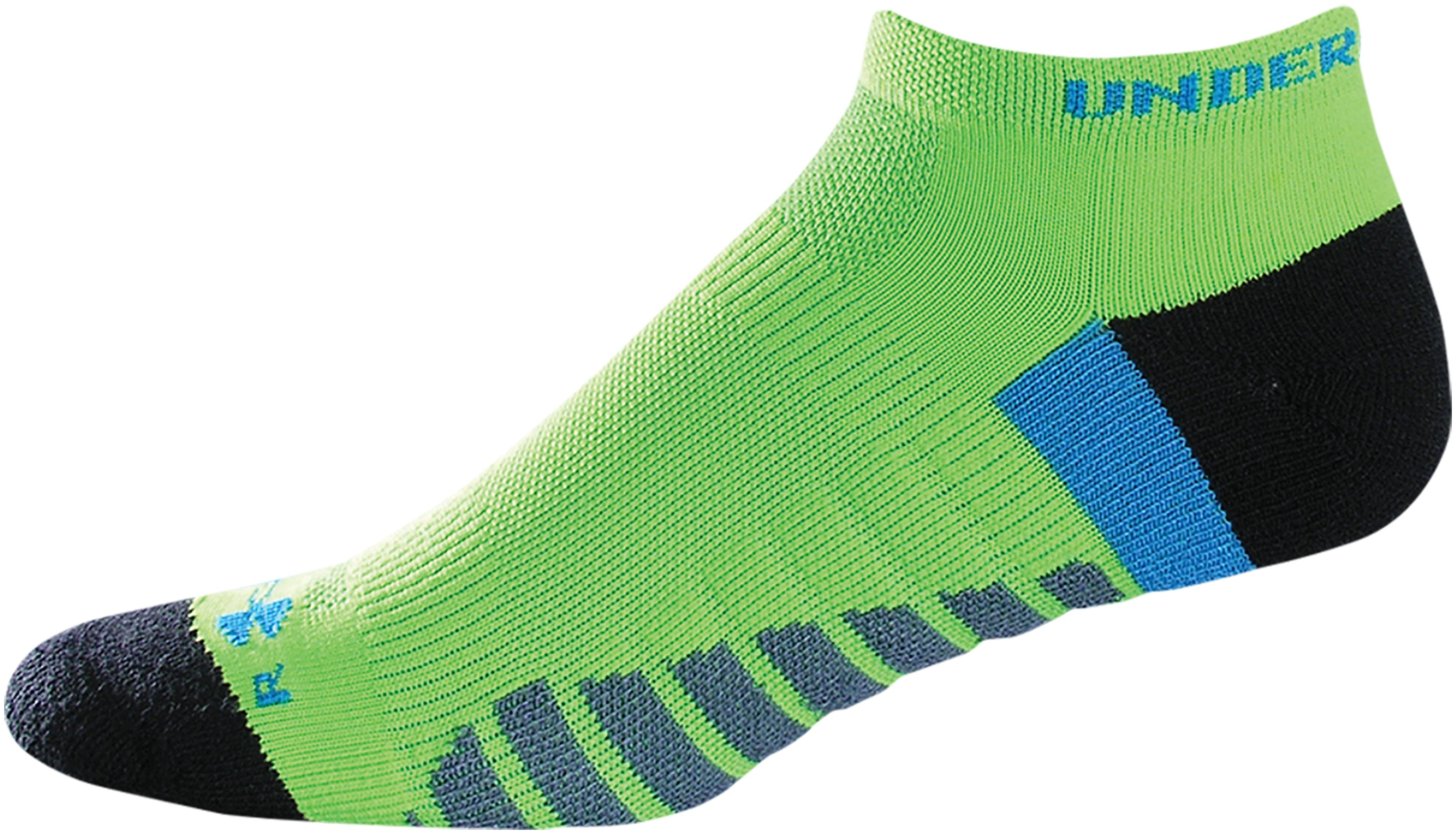 UA Selective Cushion No Show Socks, Forest Green