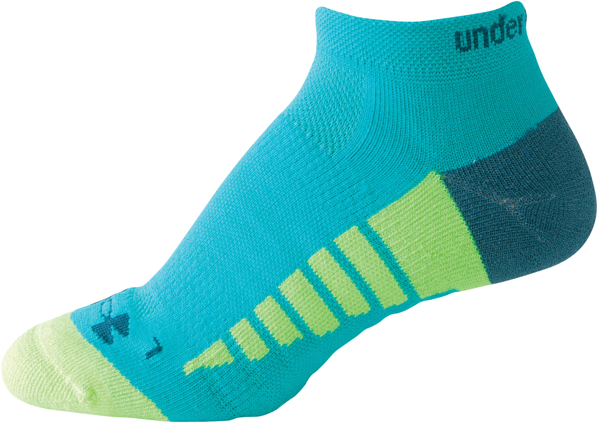 Women's UA Selective Cushion Run Socks, AQUEDUCT, zoomed image