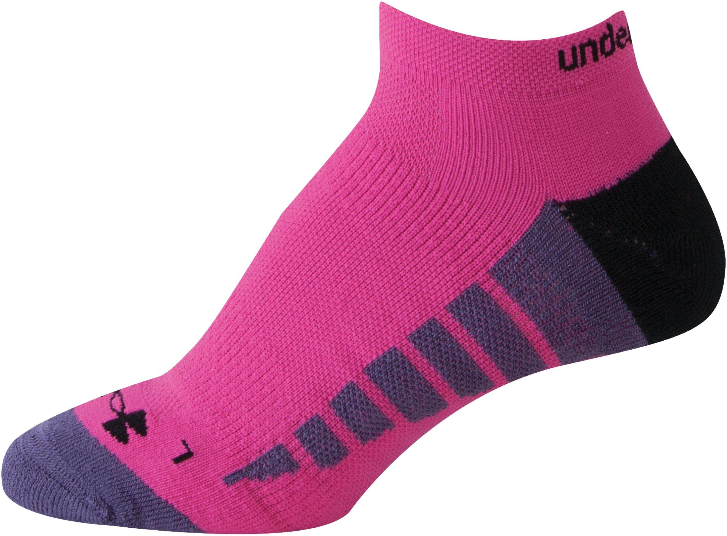 Women's UA Selective Cushion Run Socks, TWILIGHT PURPLE