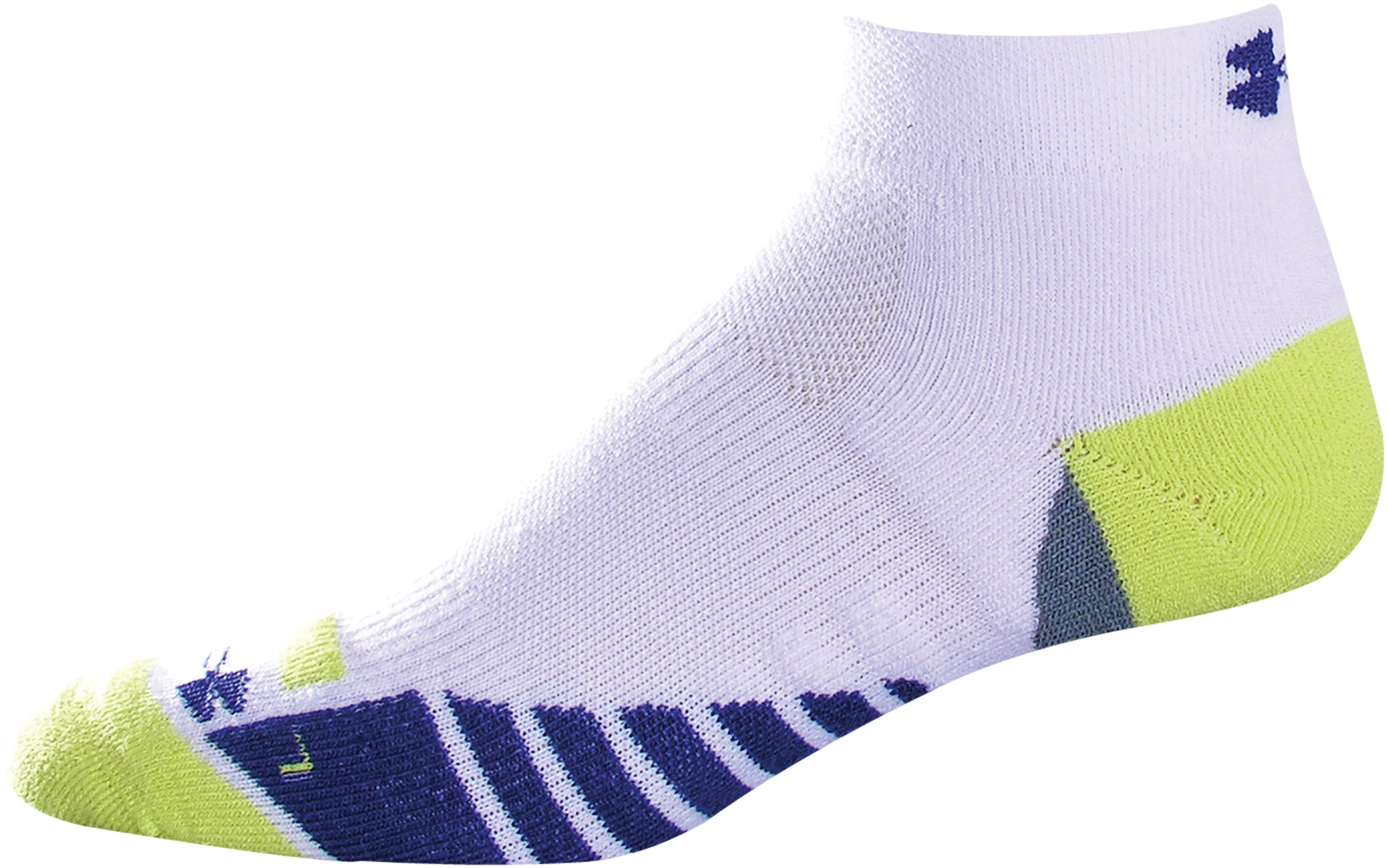 Men's UA Selective Cushioning Lo Cut Socks, White, zoomed image