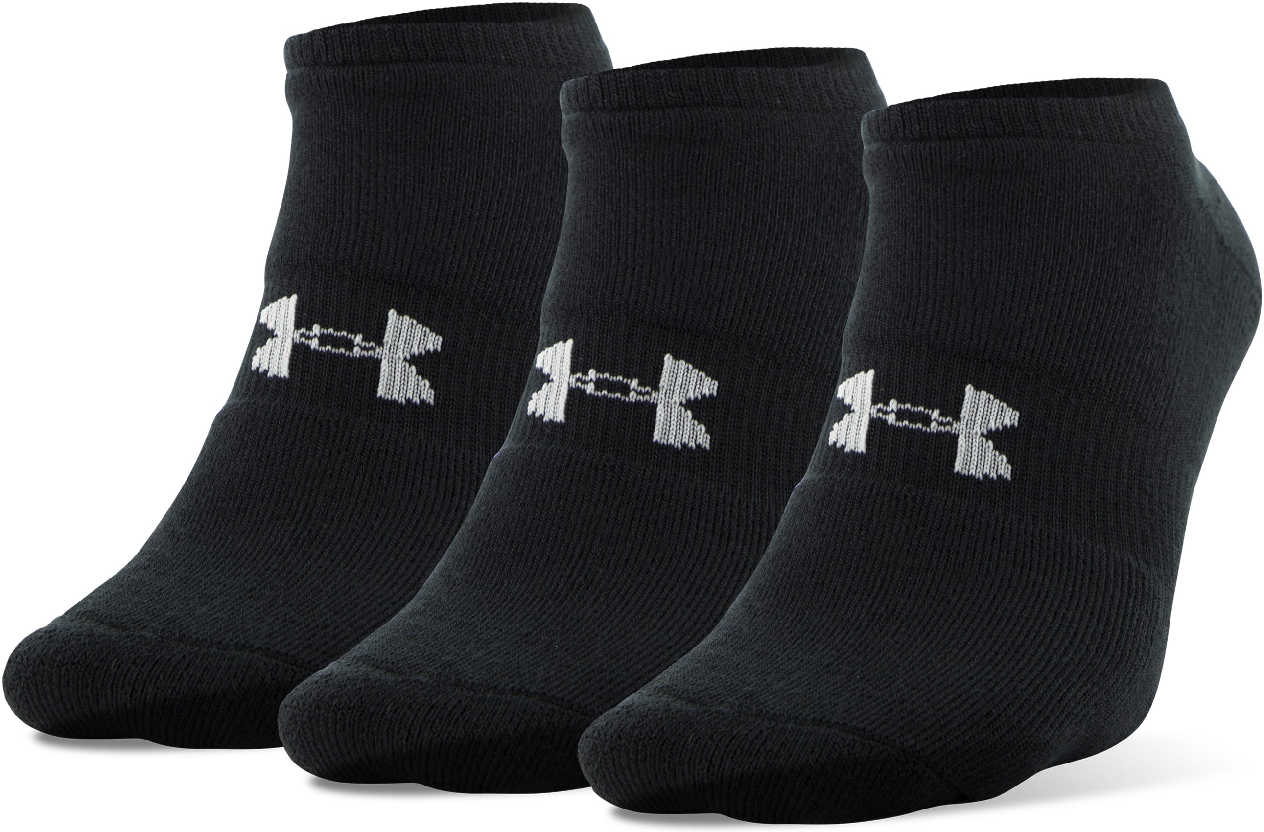 Men's UA HeatGear® SoLo Socks – 3-Pack, Black ,