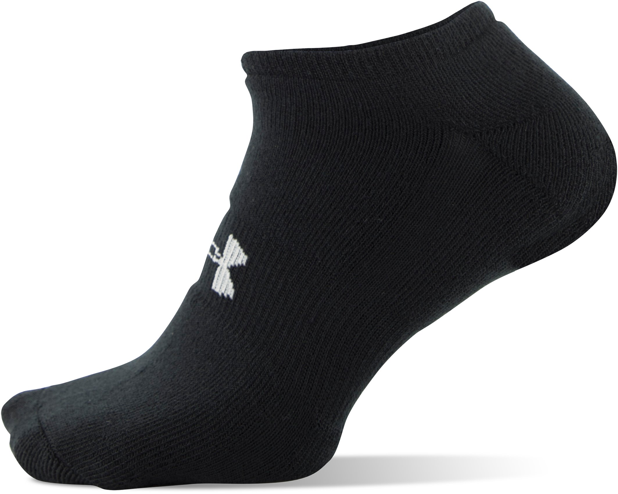 Men's UA HeatGear® SoLo Socks – 3-Pack, Black , undefined