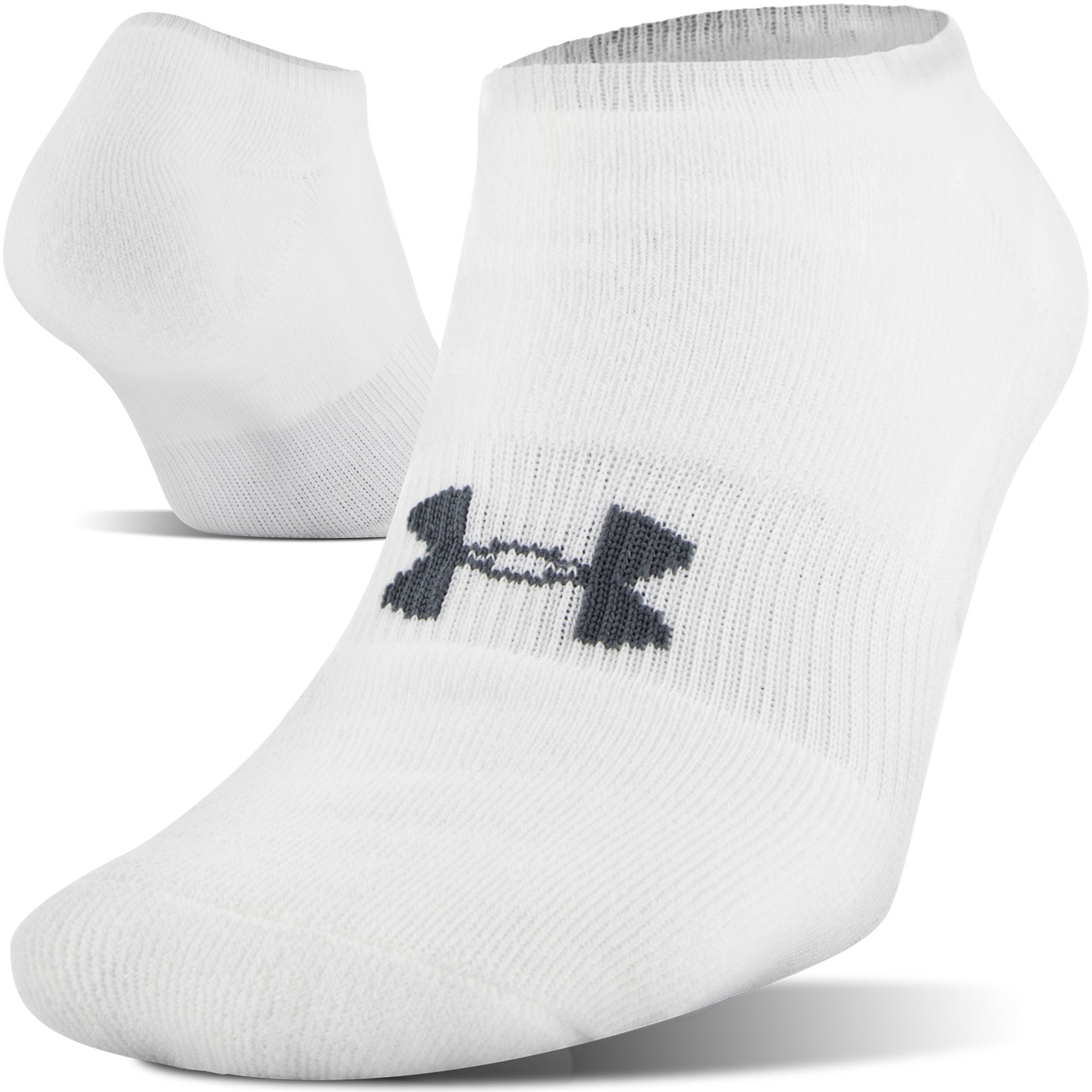 Men's UA HeatGear® SoLo Socks – 3-Pack, White, undefined