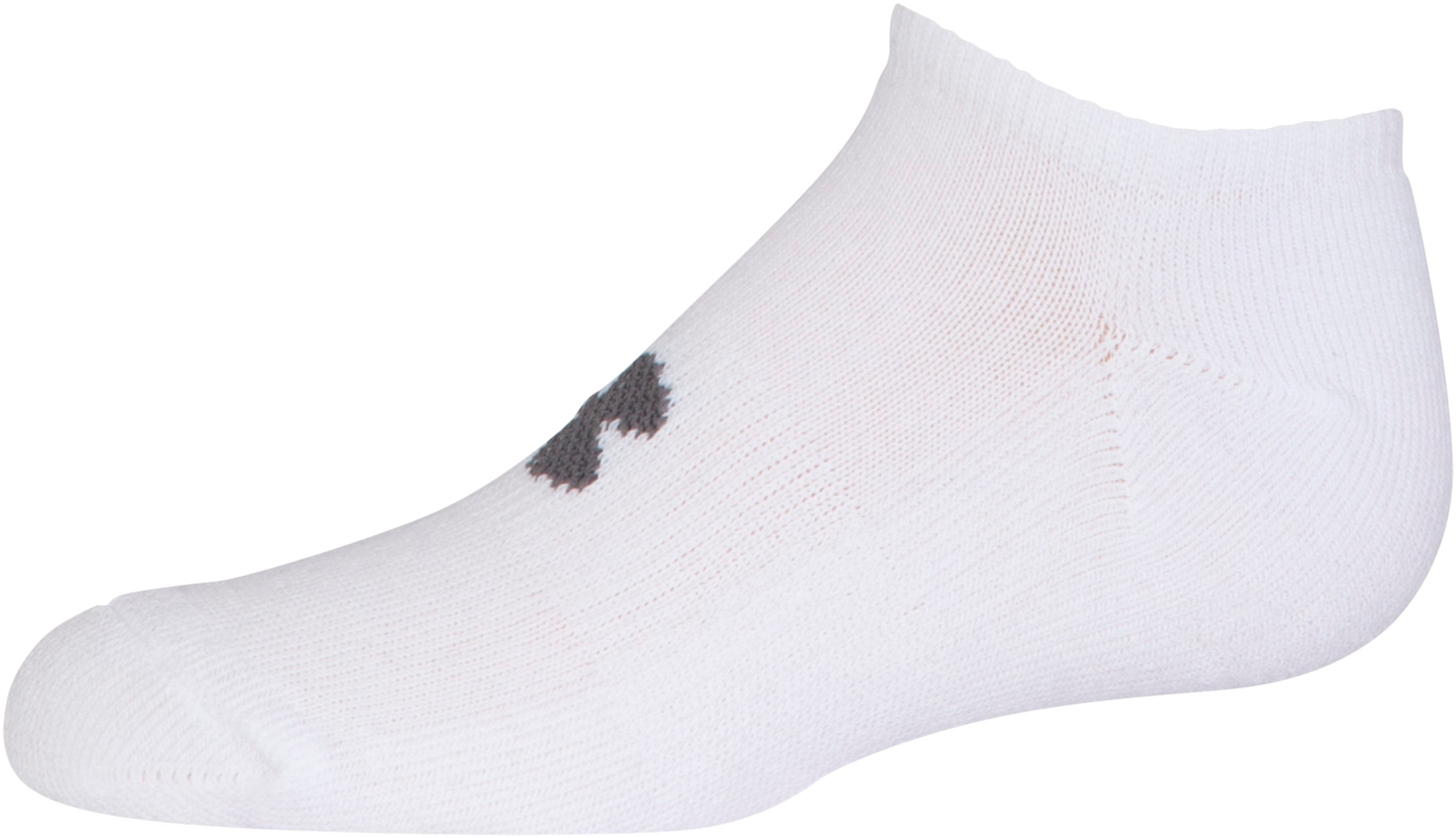 Kids' UA HeatGear® SoLo Socks – 3-Pack, White, undefined
