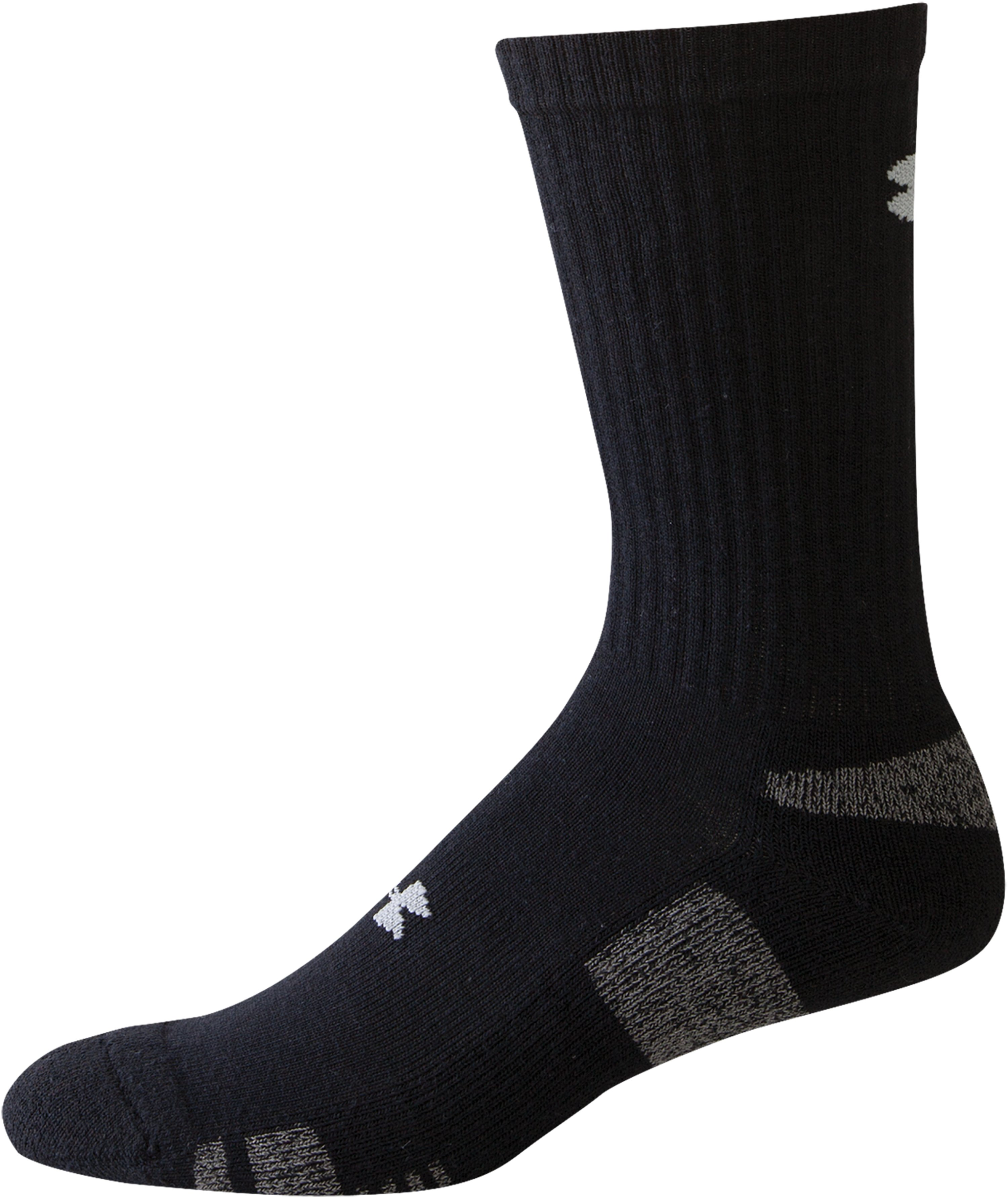 Men's UA HeatGear® Crew Socks 4-Pack, Black