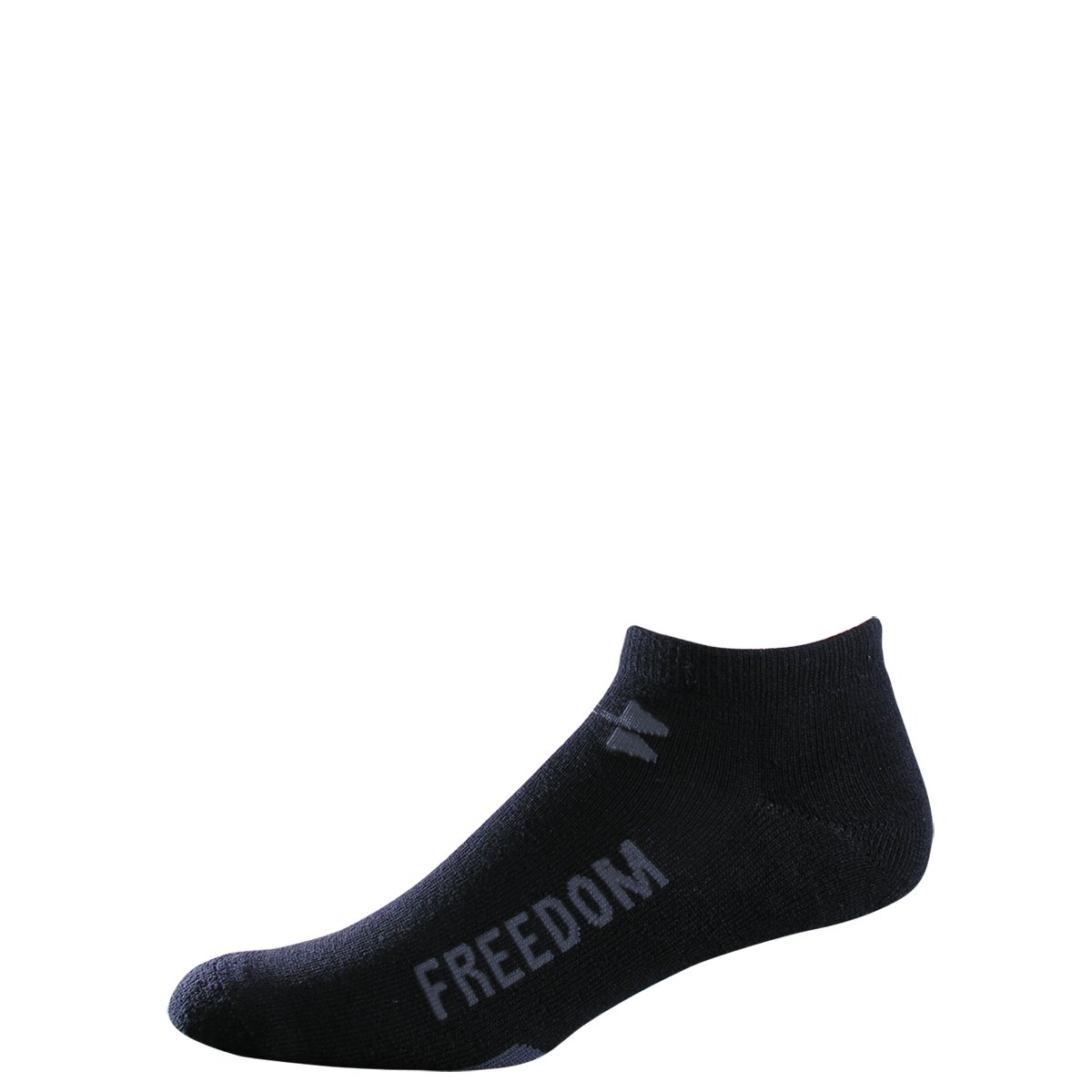 Men's UA WWP No Show Socks 3-Pack, Black , zoomed image