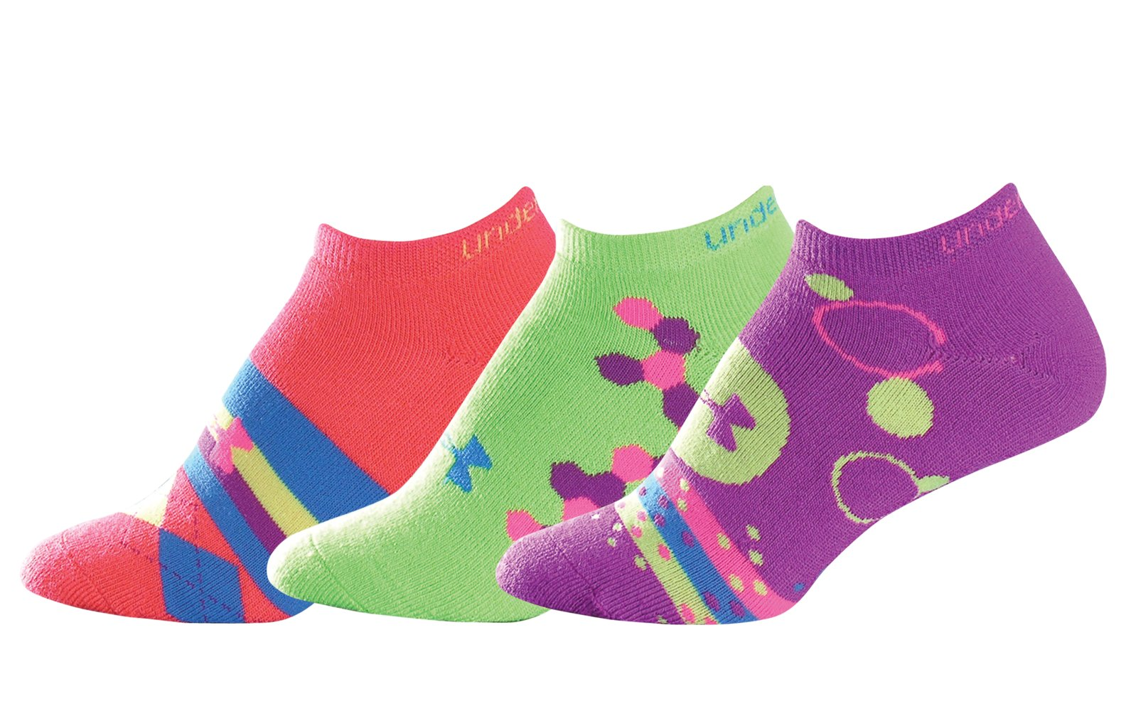 Women's UA Recur II No Show Socks – 3 Pk, Assorted, zoomed image