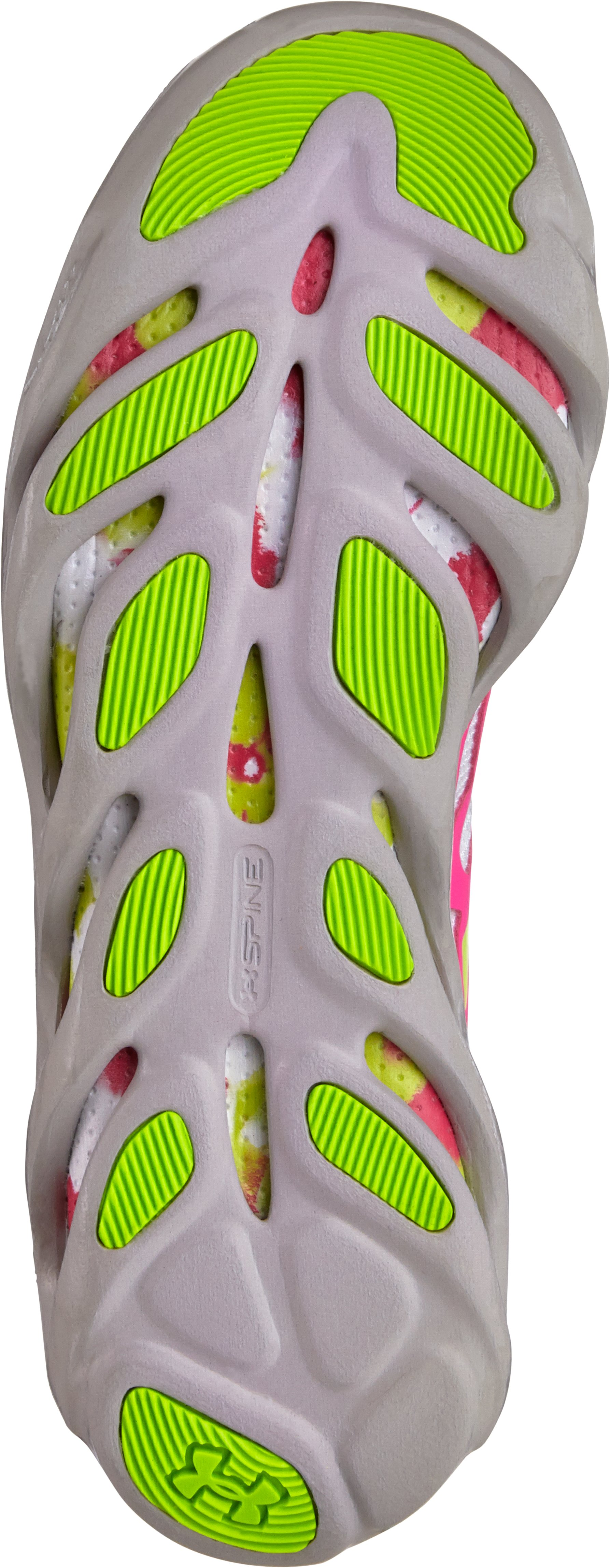 Girls' Grade School Micro G® Spine Evo Running Shoes, High-Vis Yellow