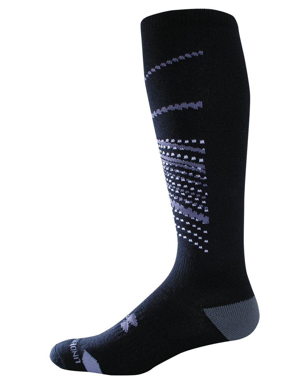 UA Space Ultra Lite Ski Socks, Black