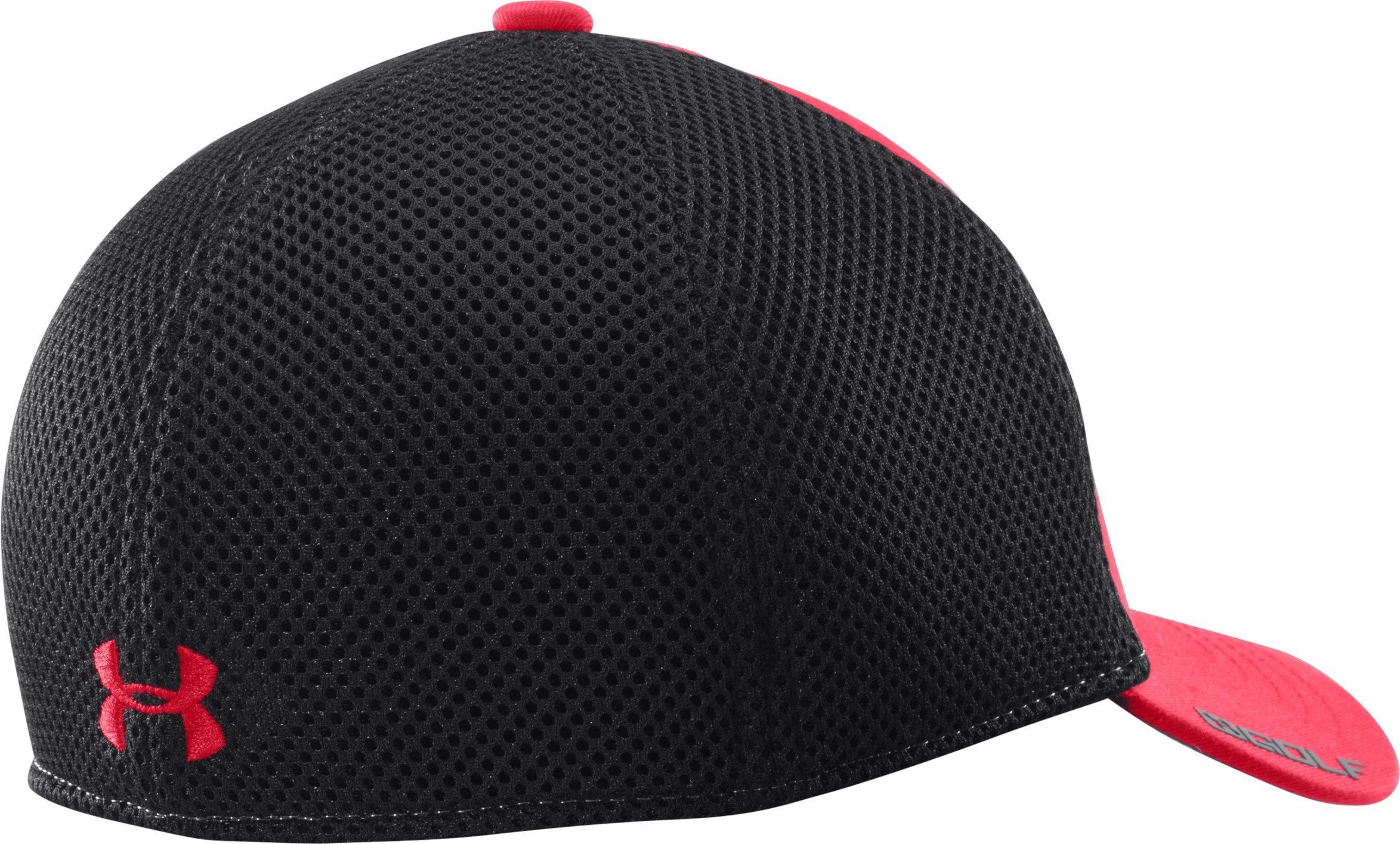 Boys' UA Classic Mesh Stretch Fit Cap, Red, undefined