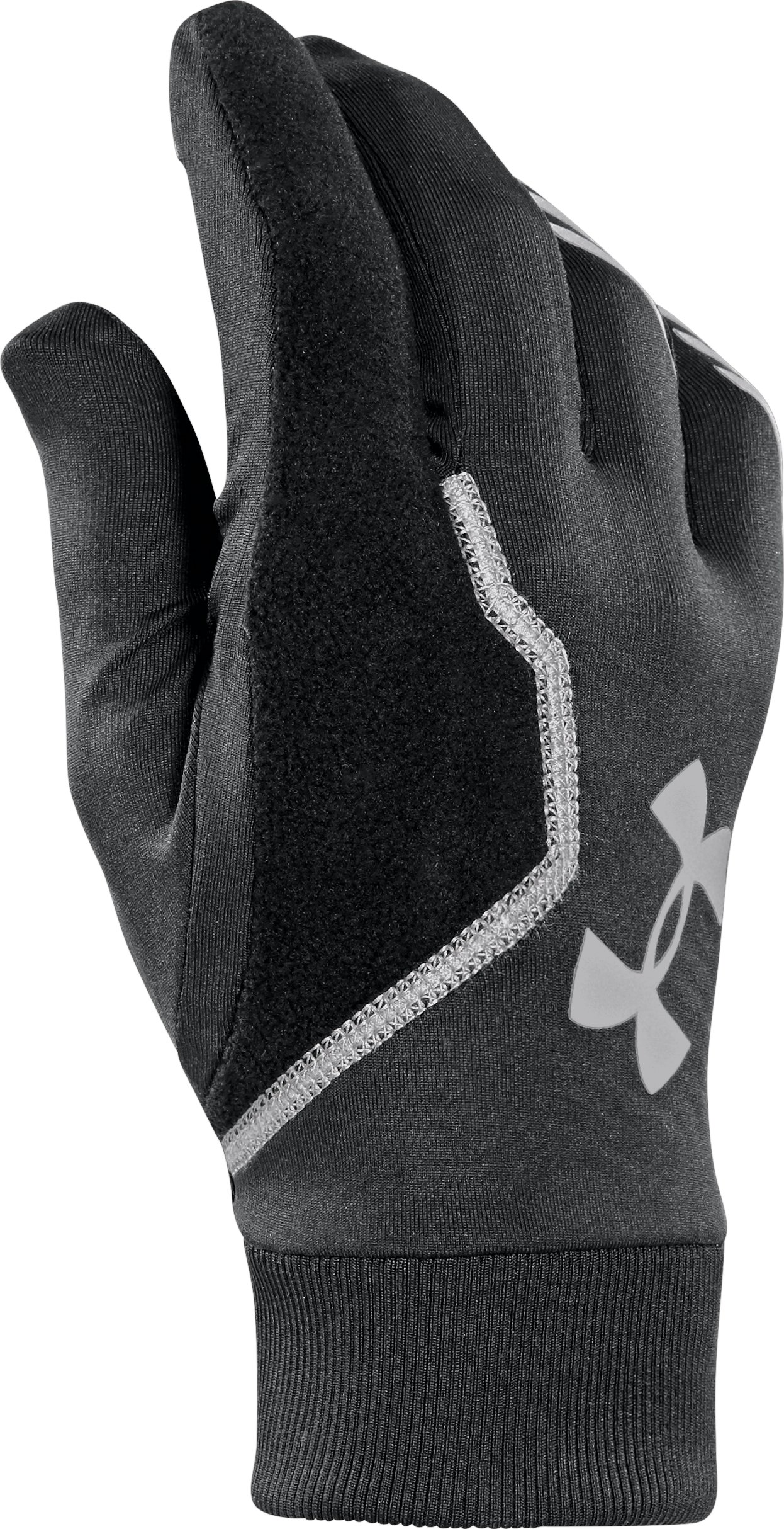 Men's UA ColdGear® Infrared Engage Run Gloves, Black , zoomed image