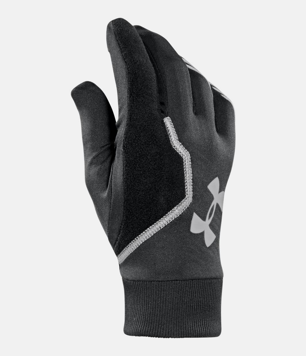 Mens fleece gloves xxl - Men S Ua Coldgear Infrared Engage Run Gloves Black Zoomed Image