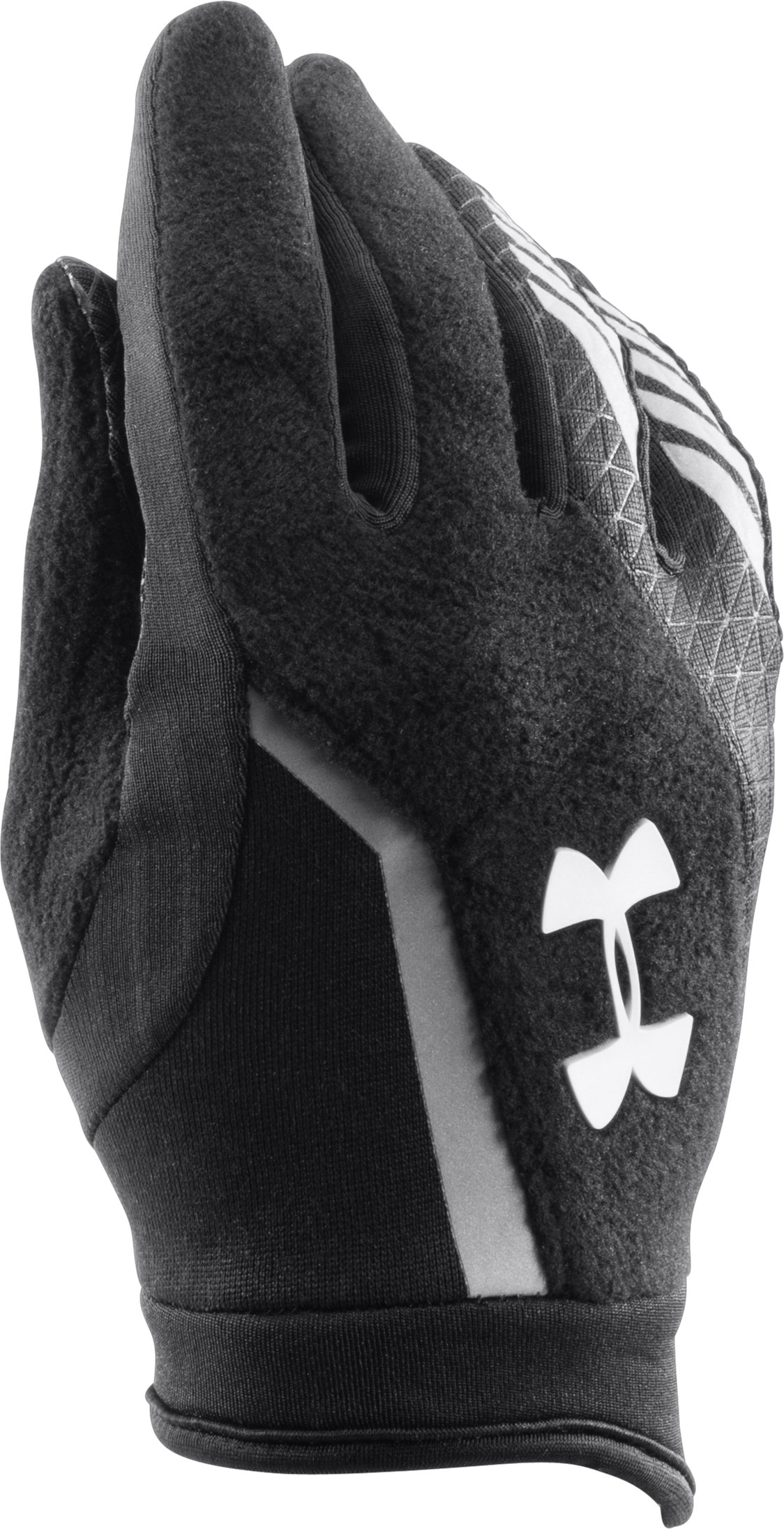 Boys' UA ColdGear® Infrared Escape Run Gloves, Black , zoomed image