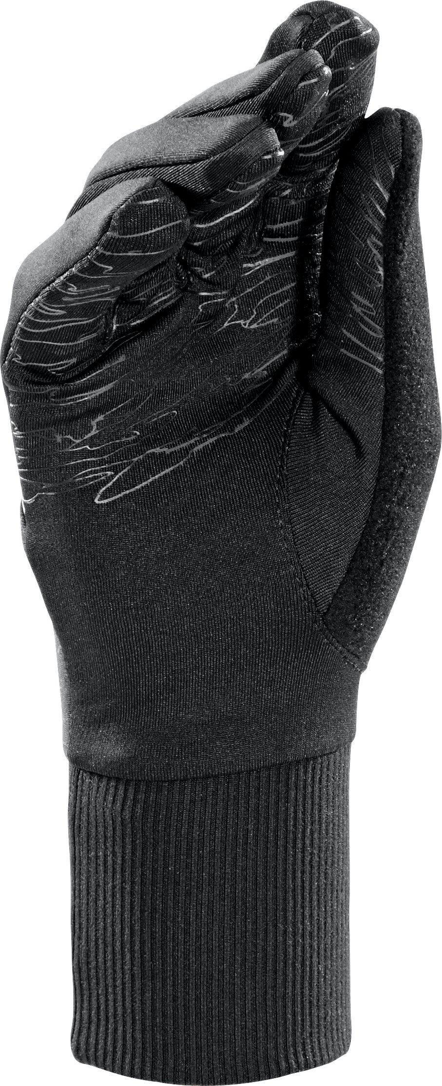 Women's UA Storm Brave The Run Glove, Black , undefined