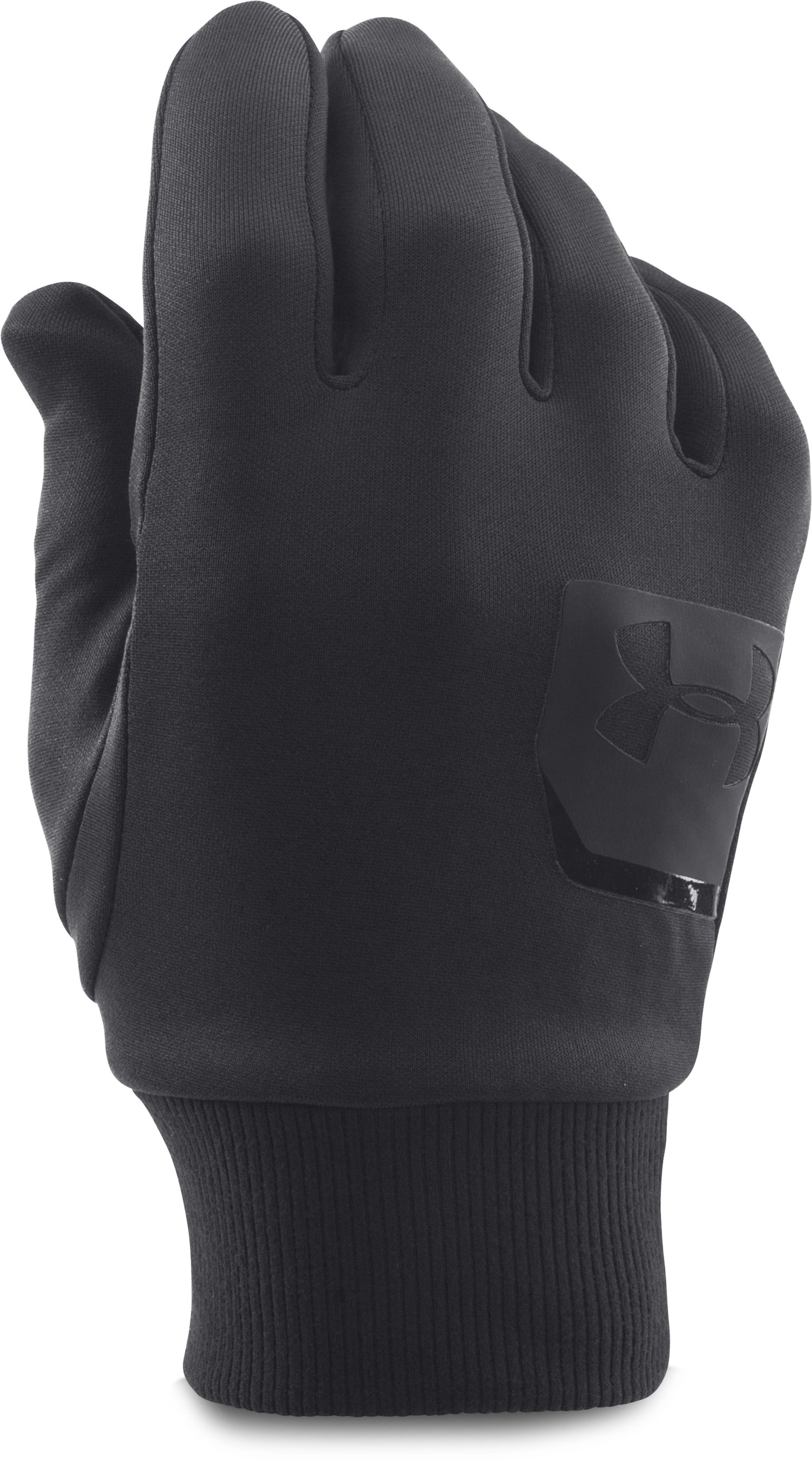 Men's UA ColdGear® Infrared Liner Gloves, Black , zoomed image