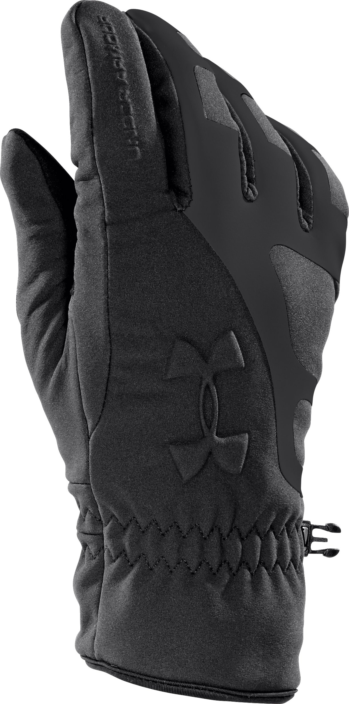 Men's UA ColdGear® Infrared Storm Stealth Gloves, Black , undefined