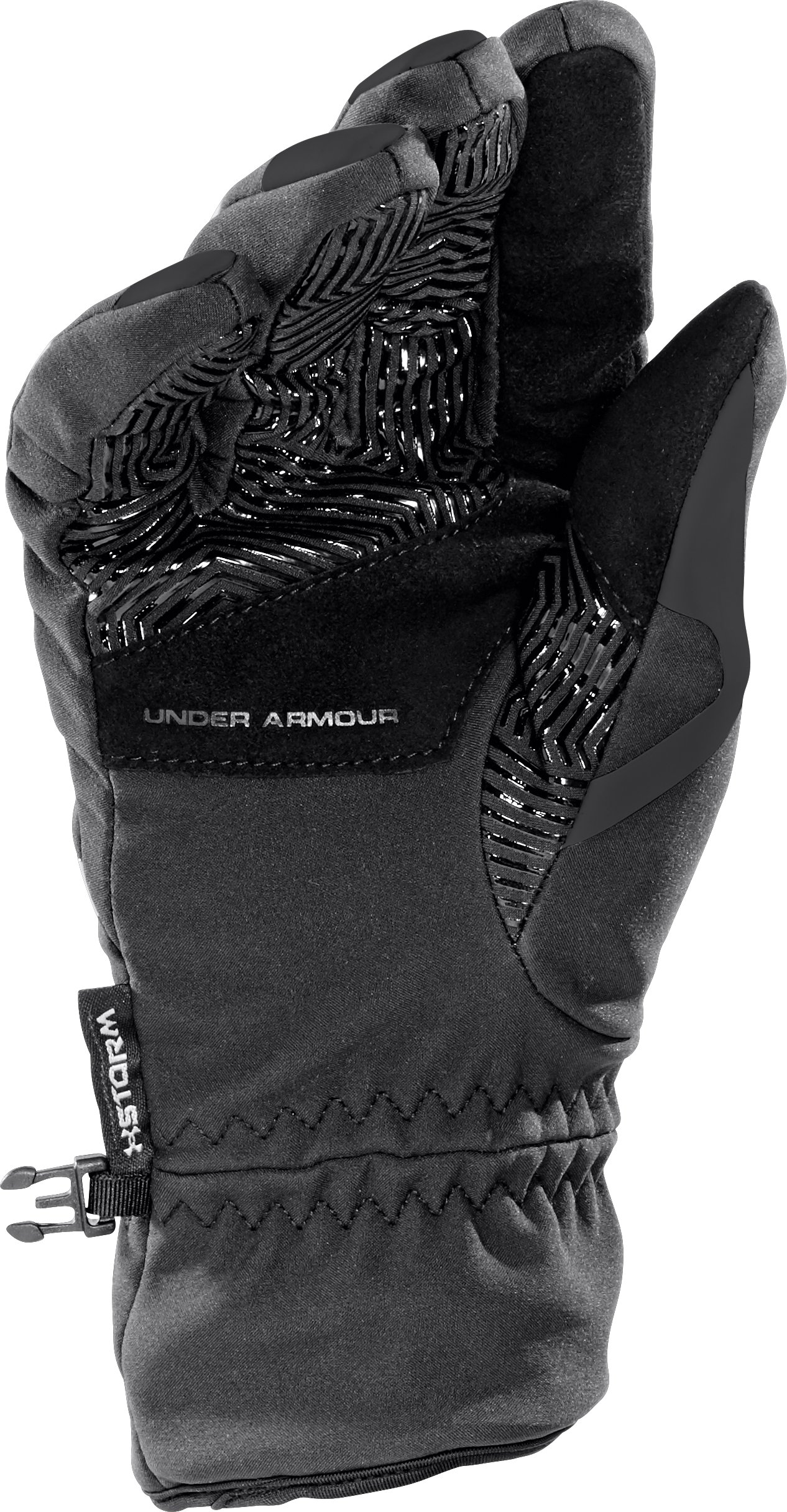Men's UA ColdGear® Infrared Storm Stealth Gloves, Black , zoomed image