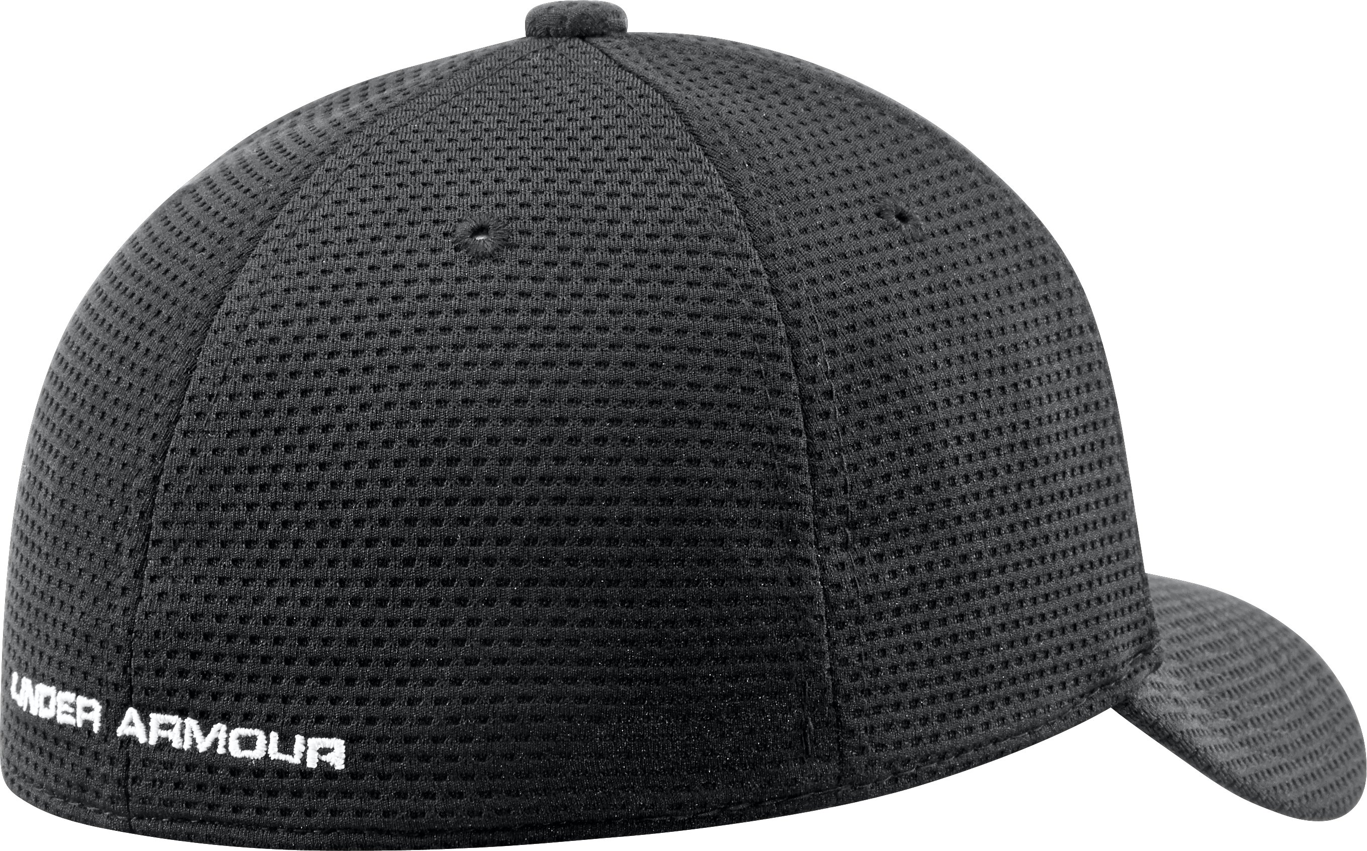 Boys' UA Blitzing Stretch Fit Cap, Black , undefined