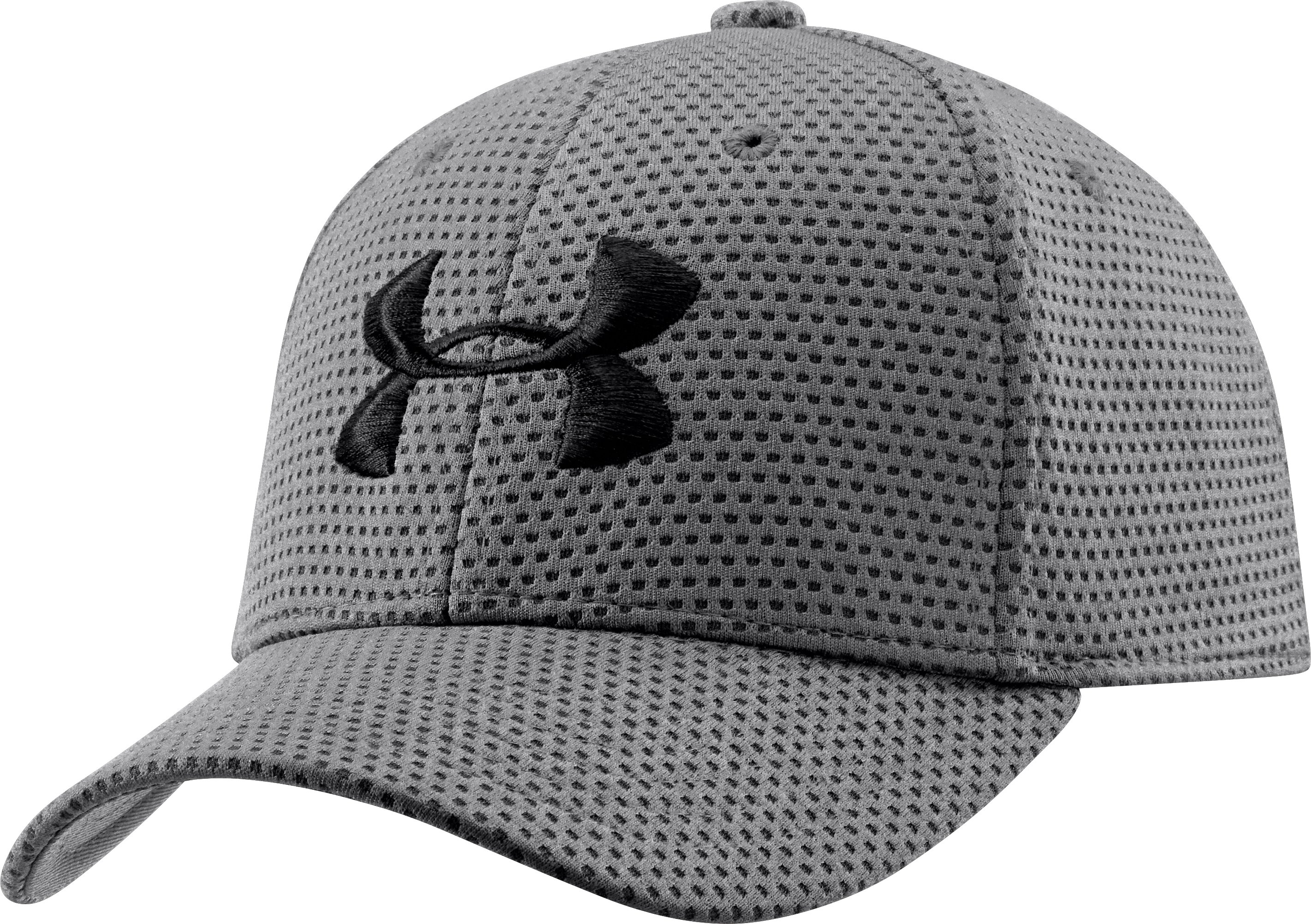 Boys' UA Blitzing Stretch Fit Cap, Graphite, undefined