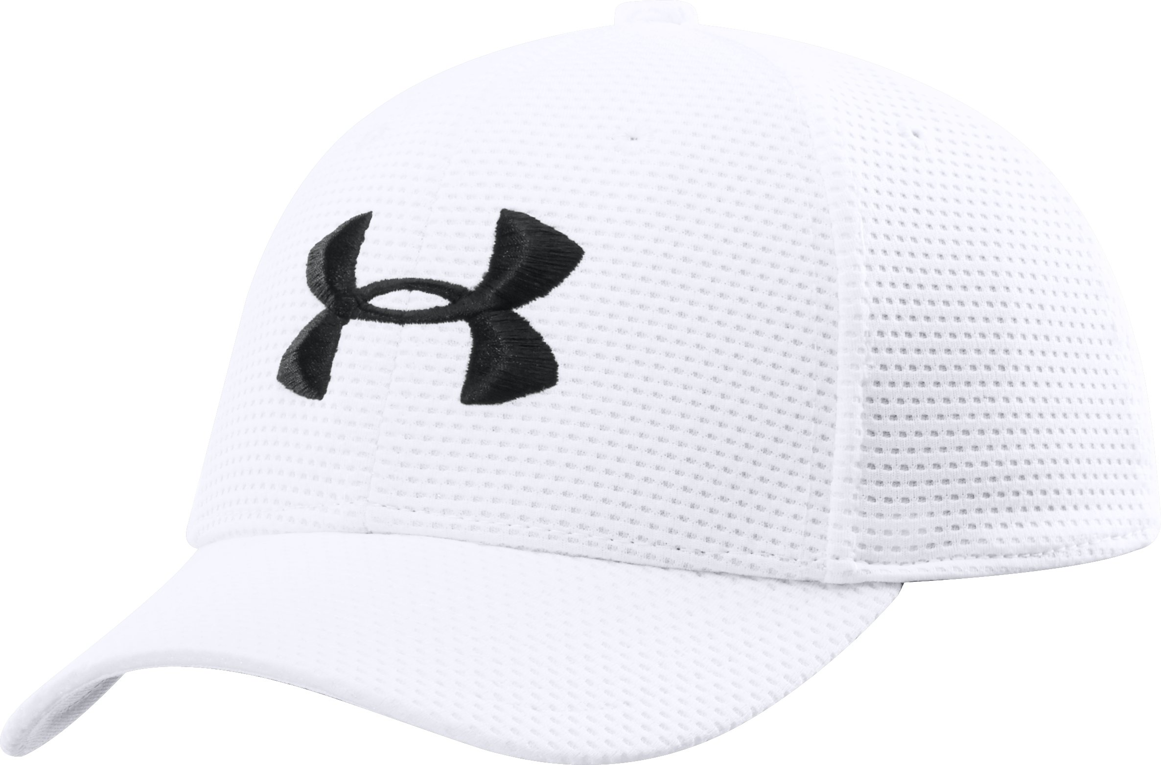 Boys' UA Blitzing Stretch Fit Cap, White
