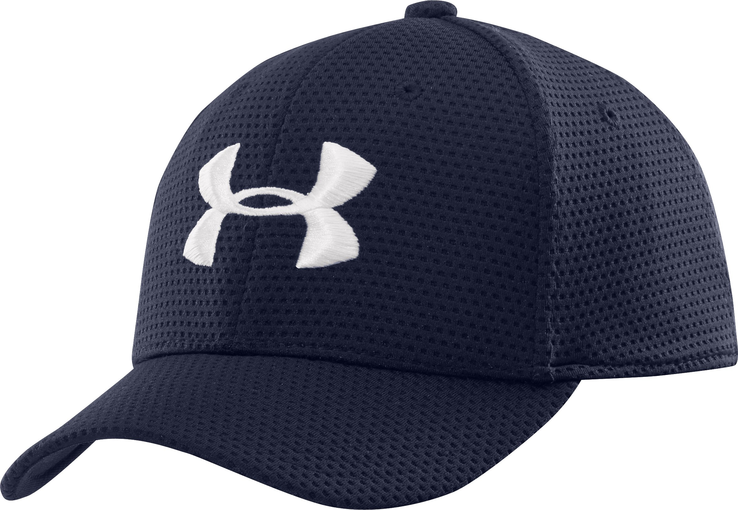 Boys' UA Blitzing Stretch Fit Cap, Midnight Navy