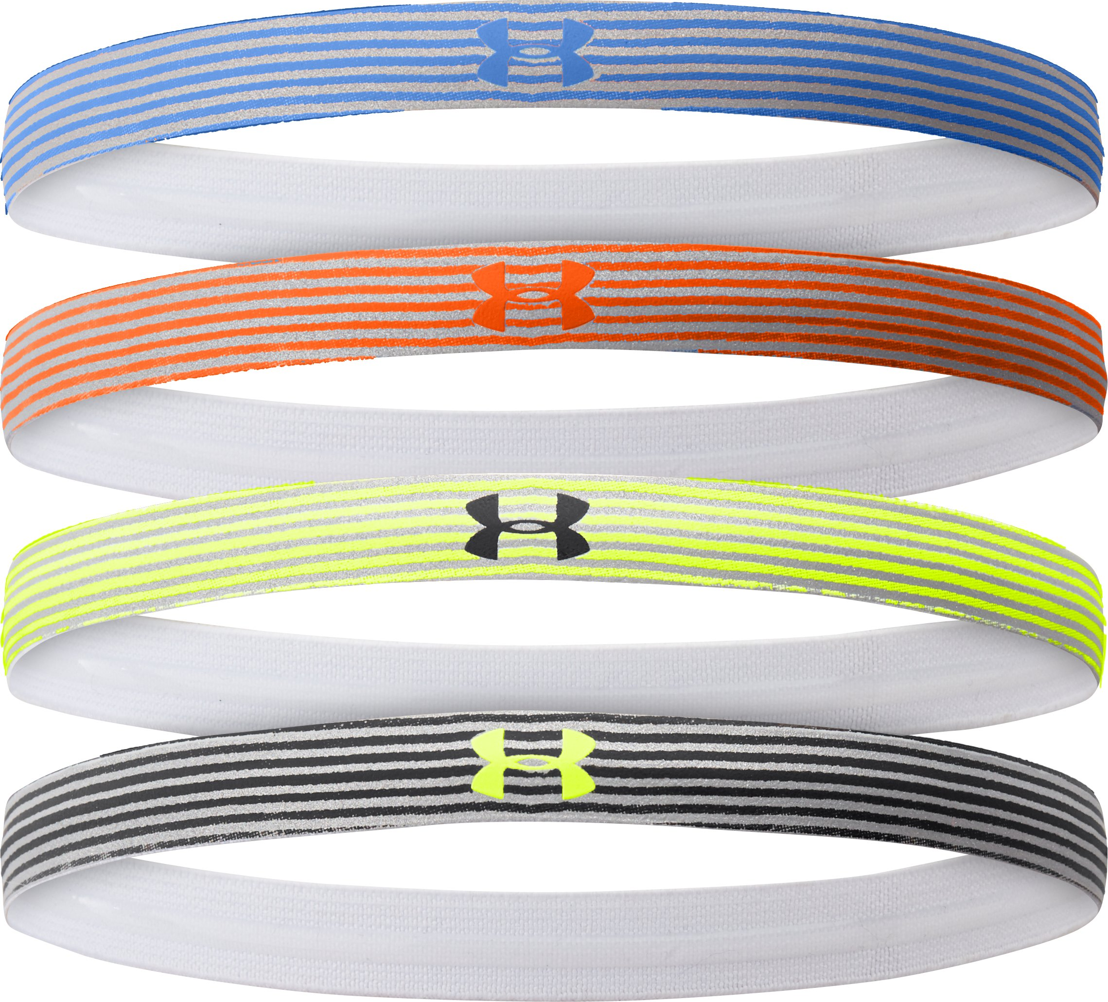 Women's UA Reflective Mini Headband - 4pk, SAILING BLUE